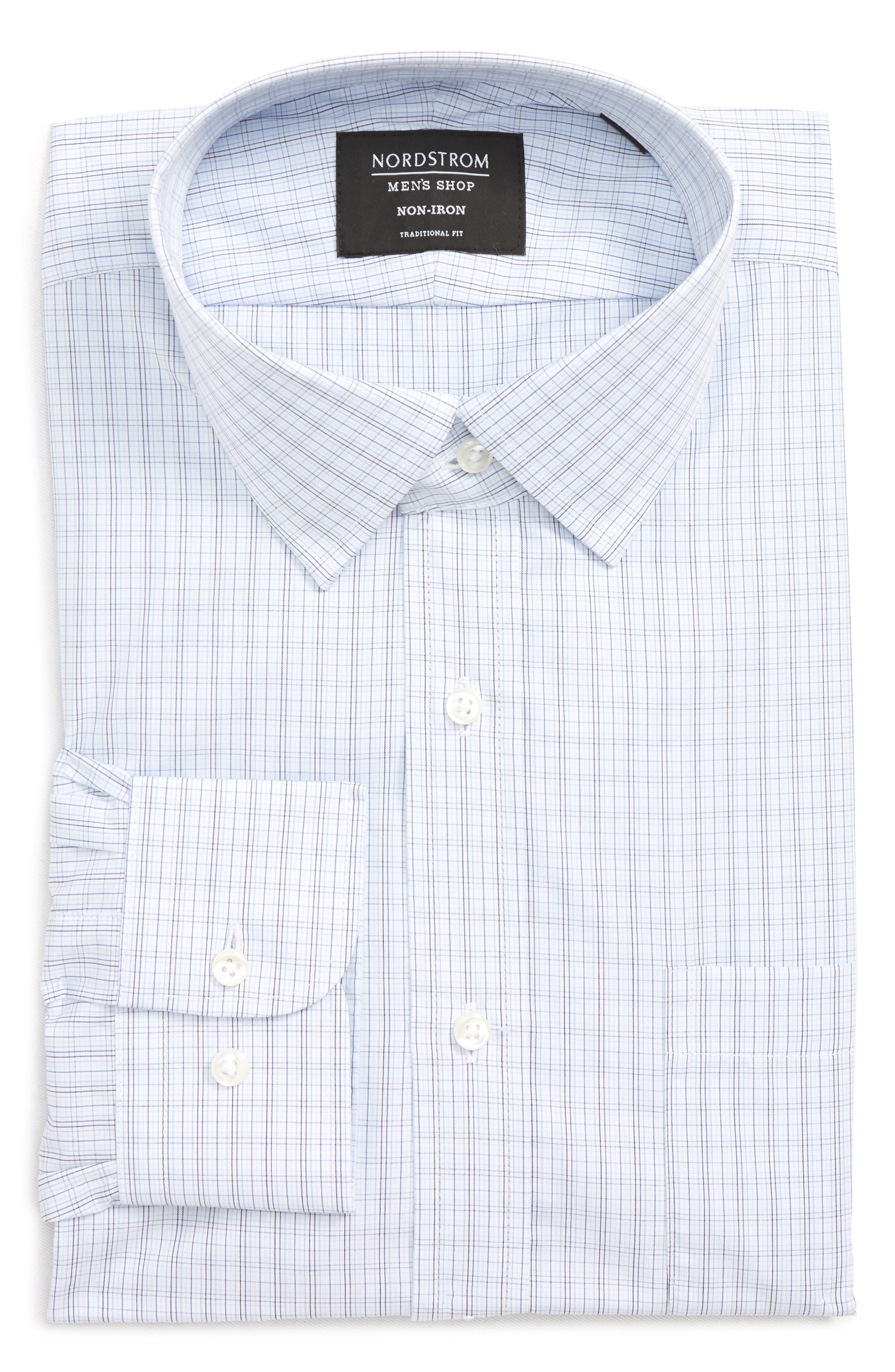 Traditional Fit Plaid Dress Shirt,                             Alternate thumbnail 5, color,                             410