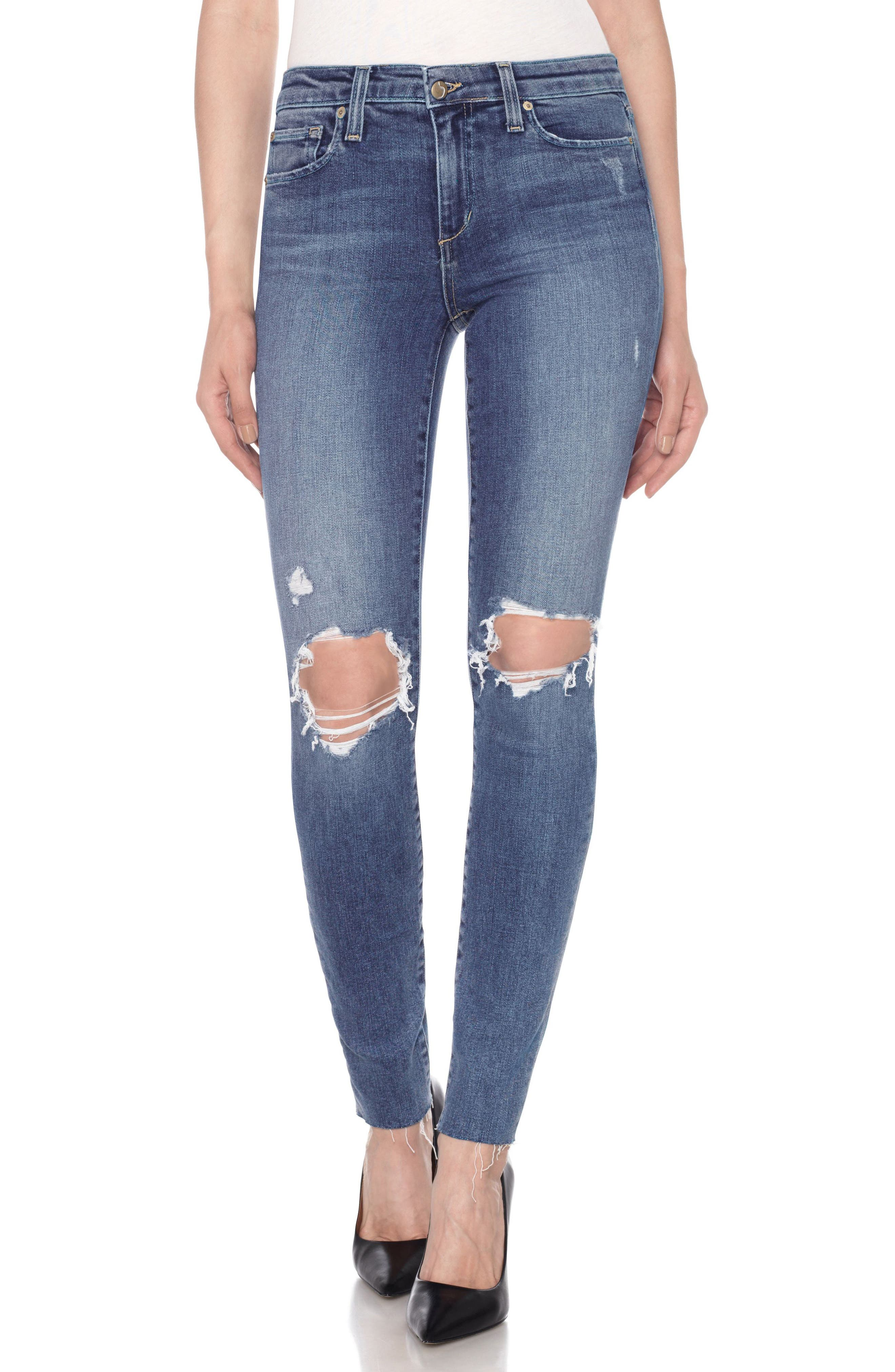 Icon High Waist Skinny Jeans,                             Main thumbnail 1, color,                             415