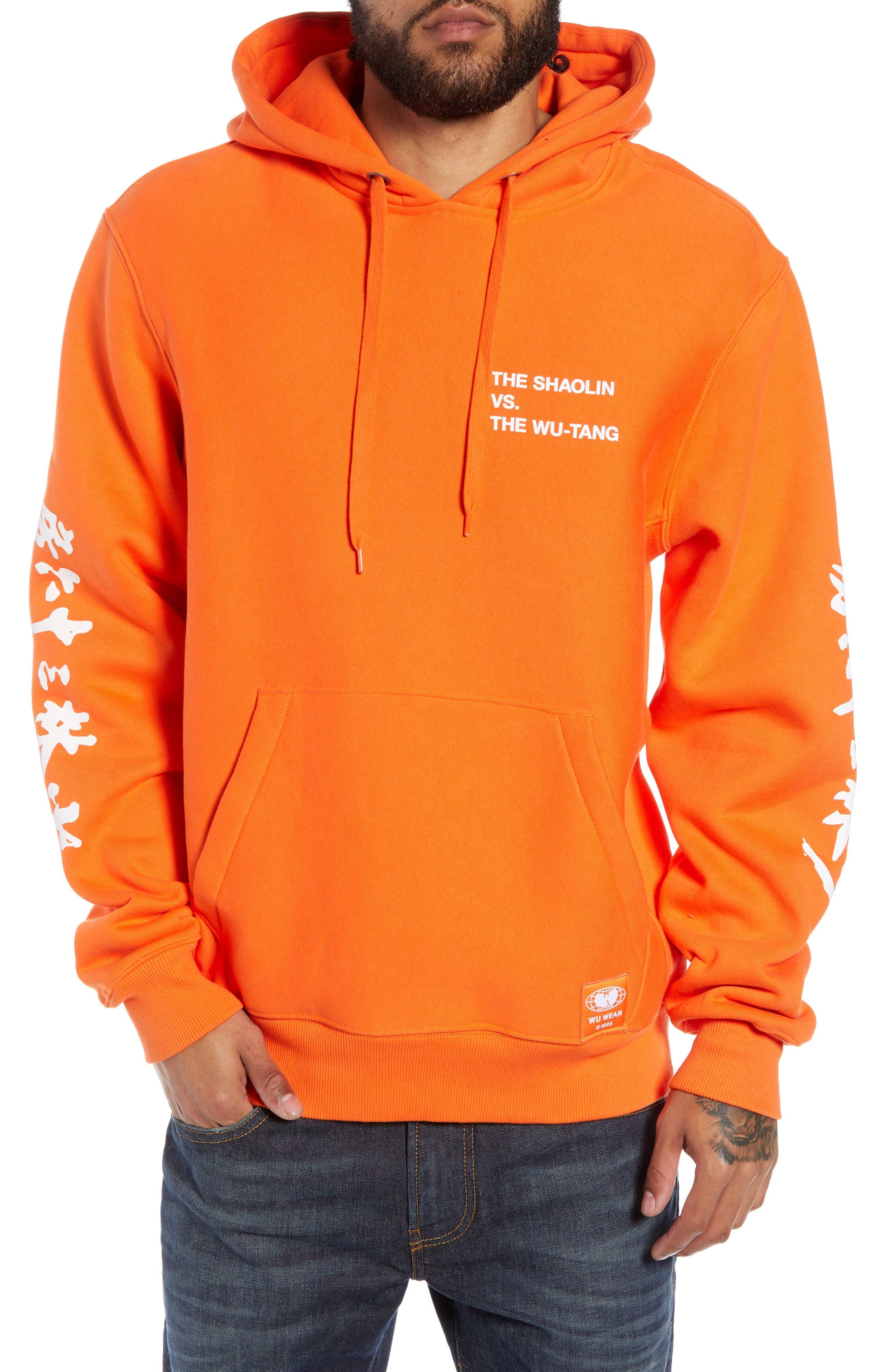 WU WEAR Shaolin Vs. Wu-Tang Graphic Hoodie in Orange
