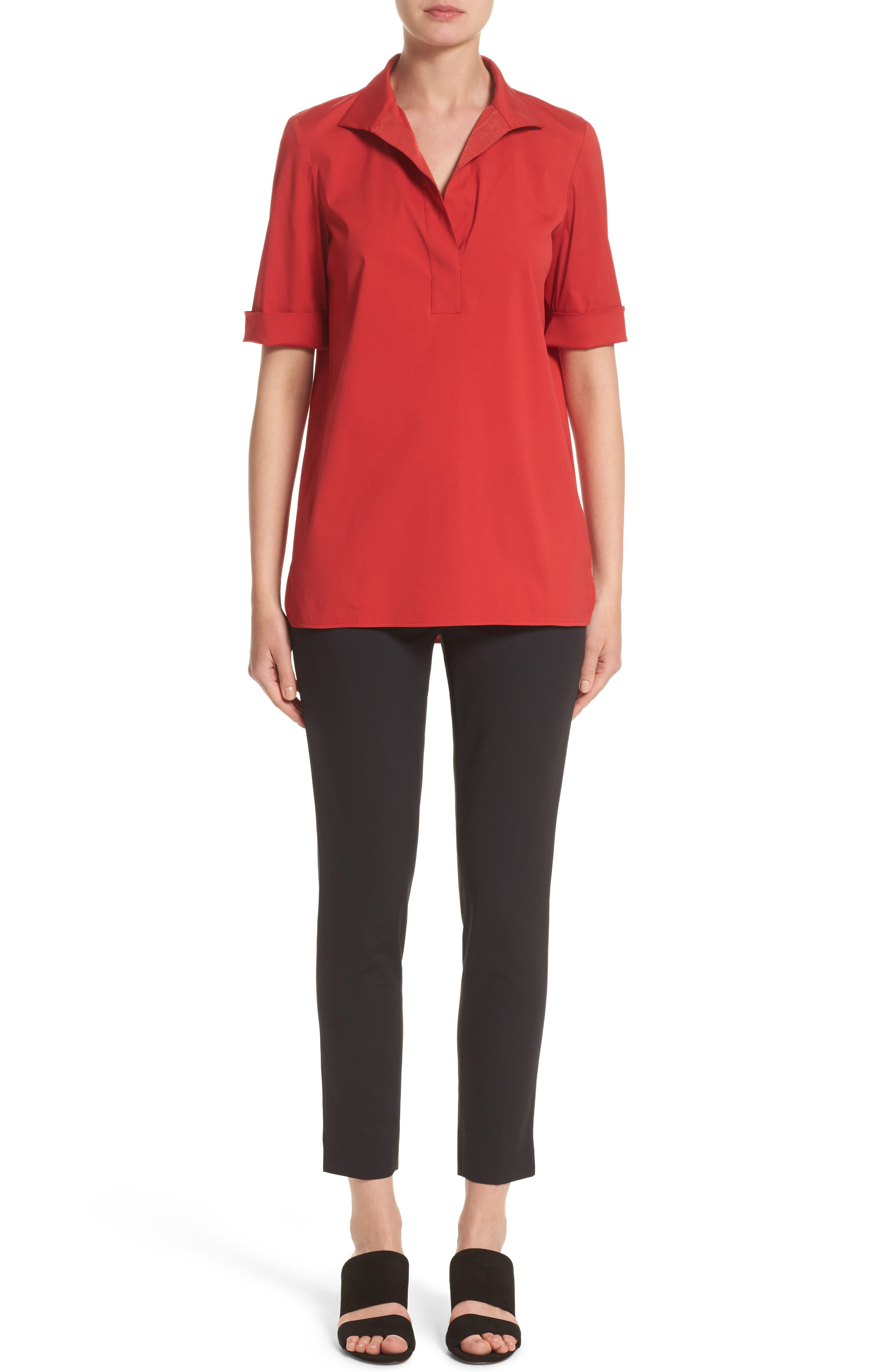 Daley High/Low Blouse,                             Alternate thumbnail 8, color,