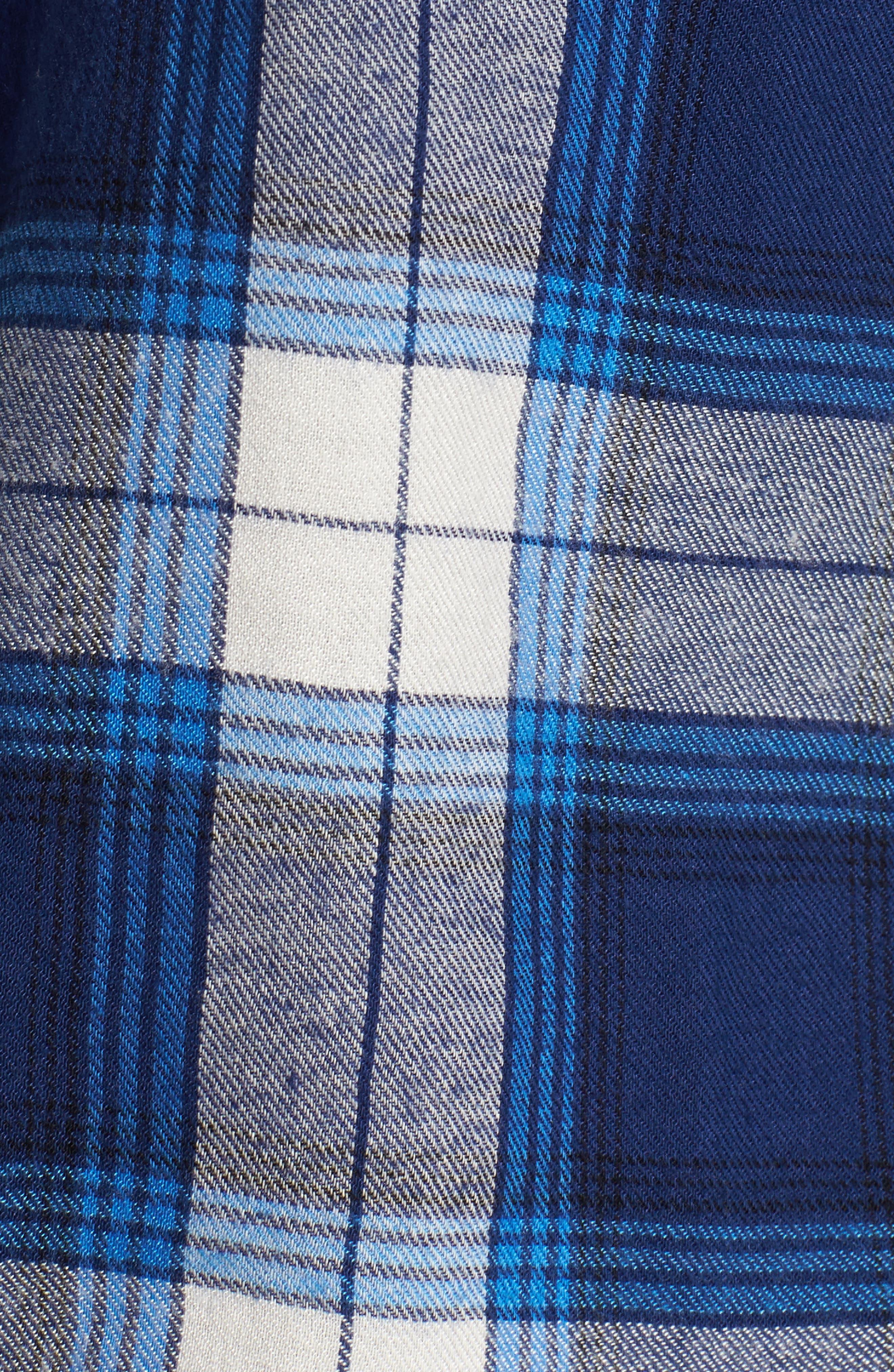 Plaid Cotton Blend Shirt,                             Alternate thumbnail 22, color,