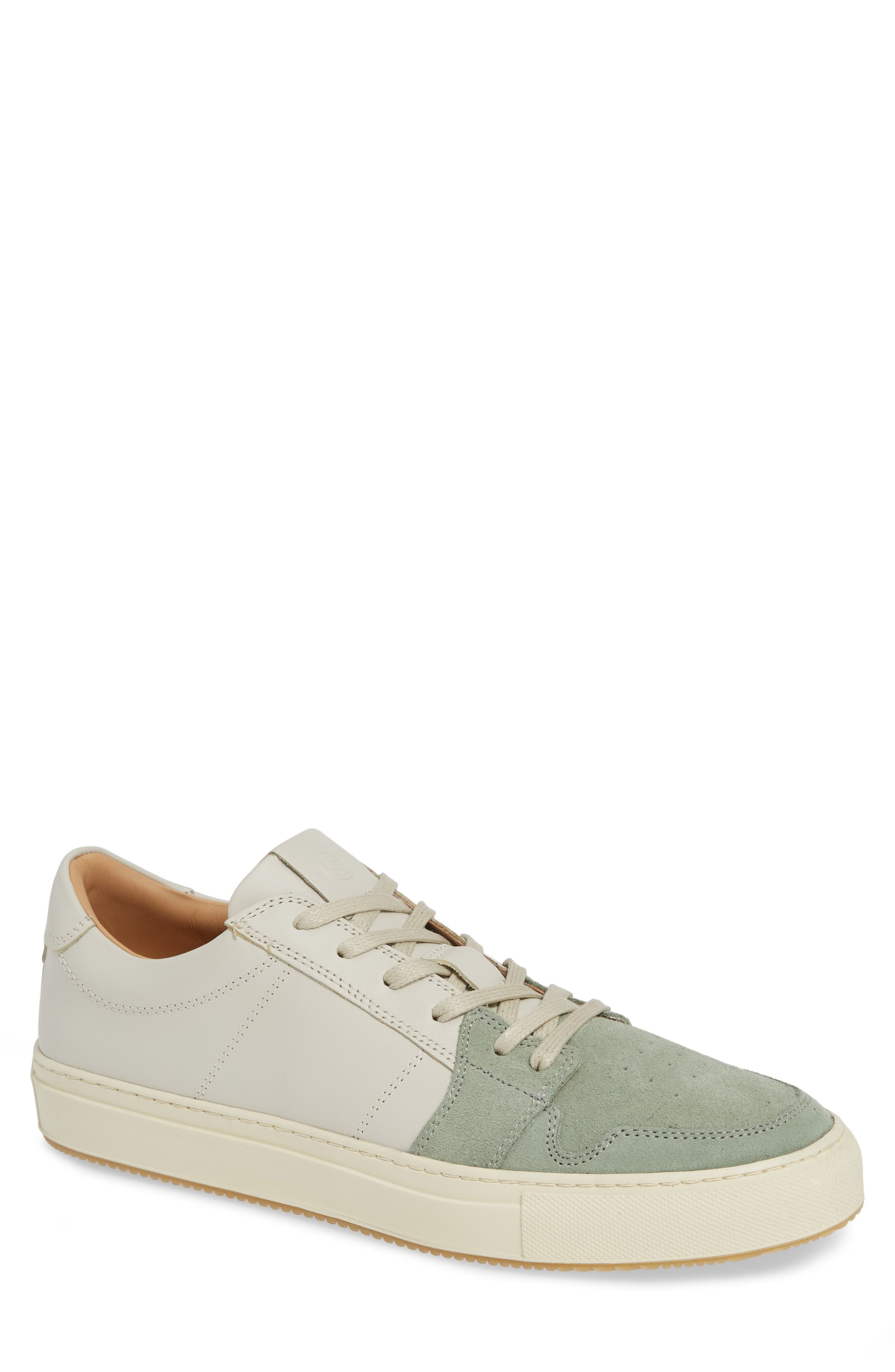 GREATS Court Sneaker in Silver/ Loden Frost Leather