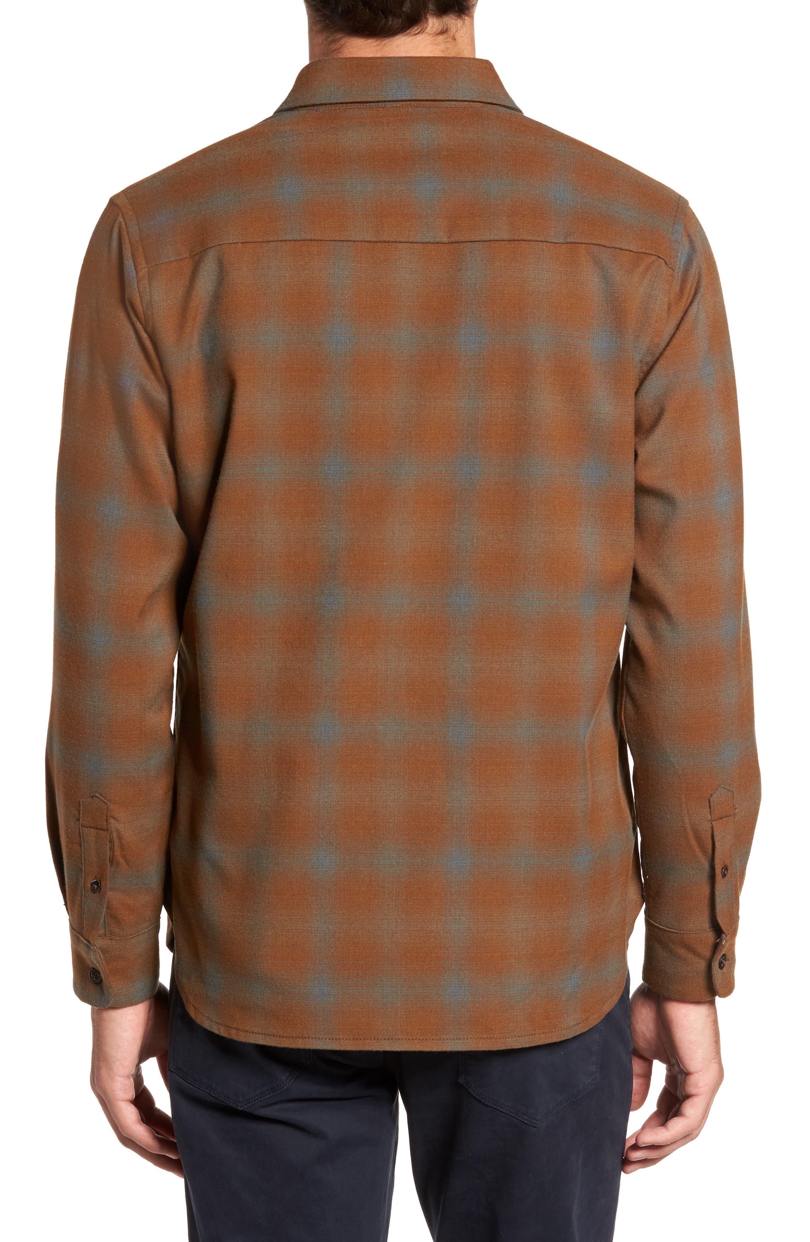 Peak Flannel Sport Shirt,                             Alternate thumbnail 2, color,                             215