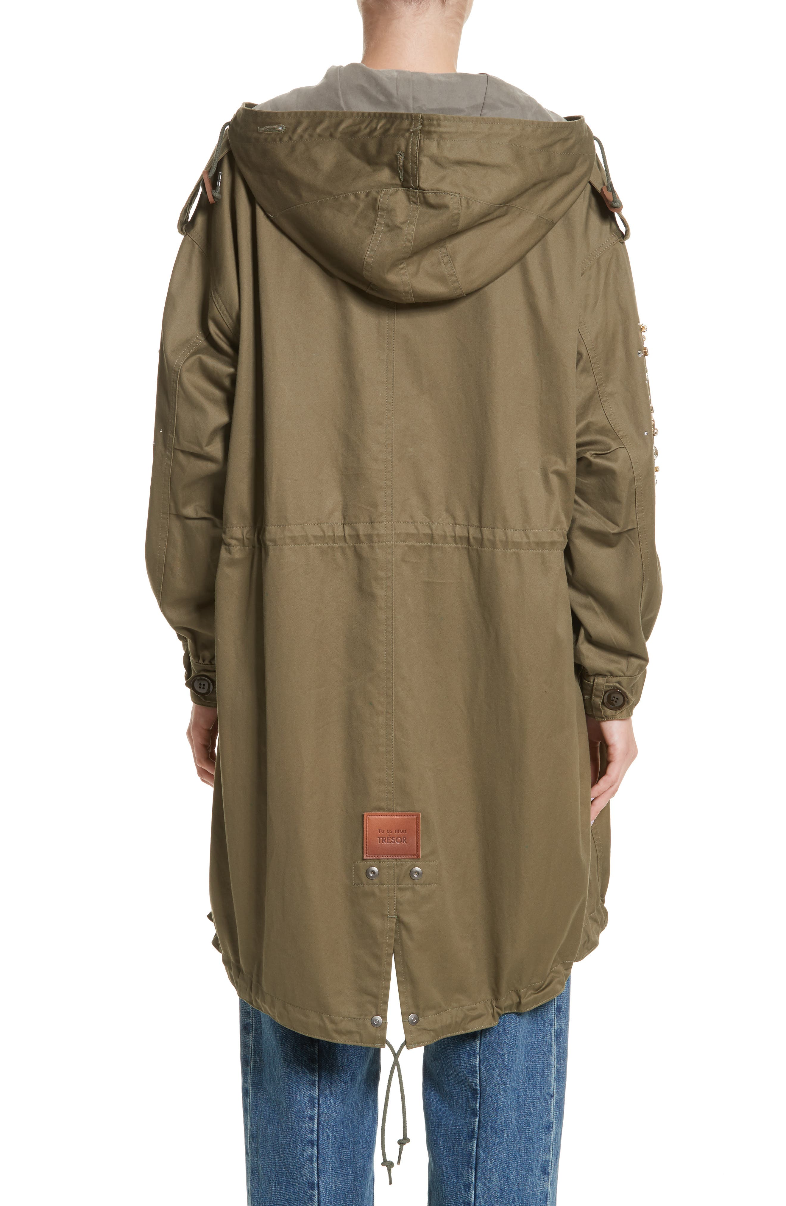 Tu es mon TRESOR Stardust Elbow Parka,                             Alternate thumbnail 2, color,                             KHAKI KHAK
