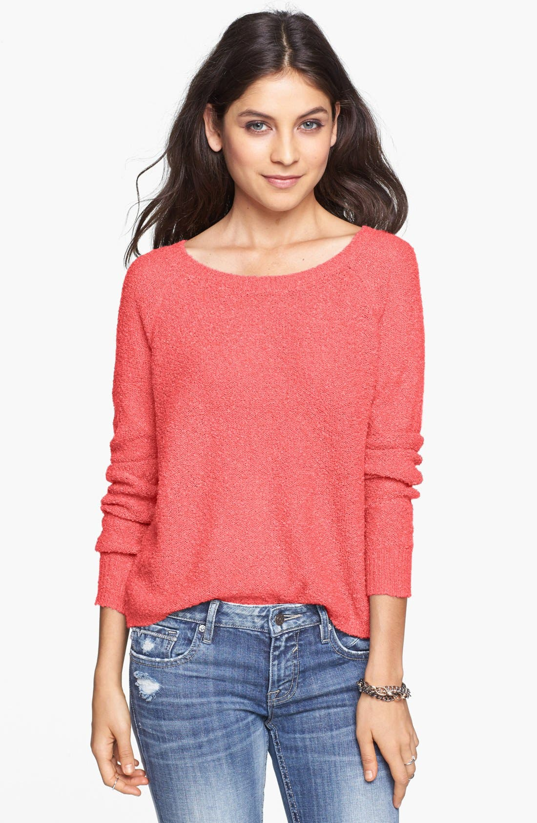 'Grunge' Textured Sweater,                             Main thumbnail 10, color,