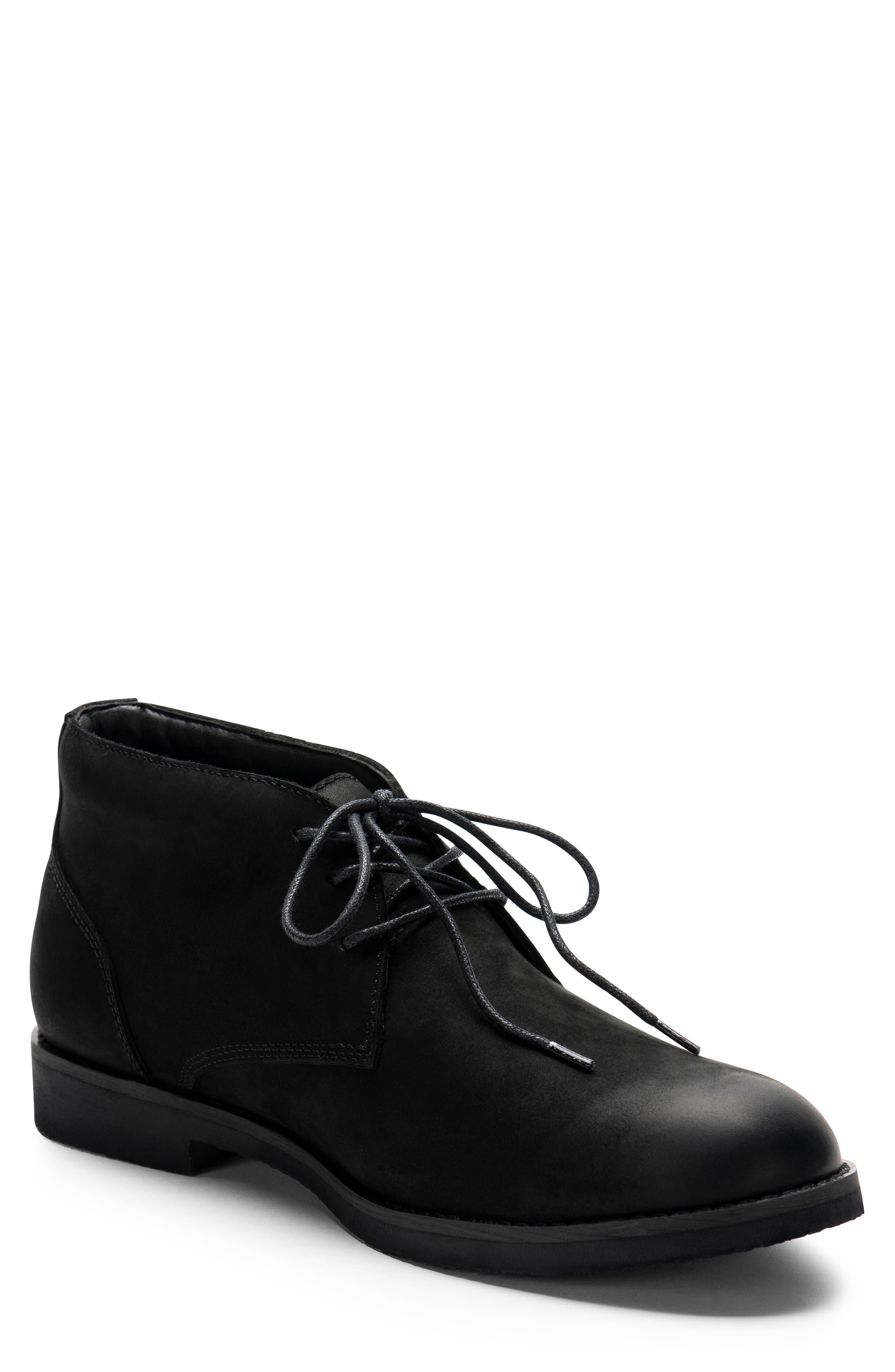 Gary Waterproof Chukka Boot,                         Main,                         color, BLACK NUBUCK