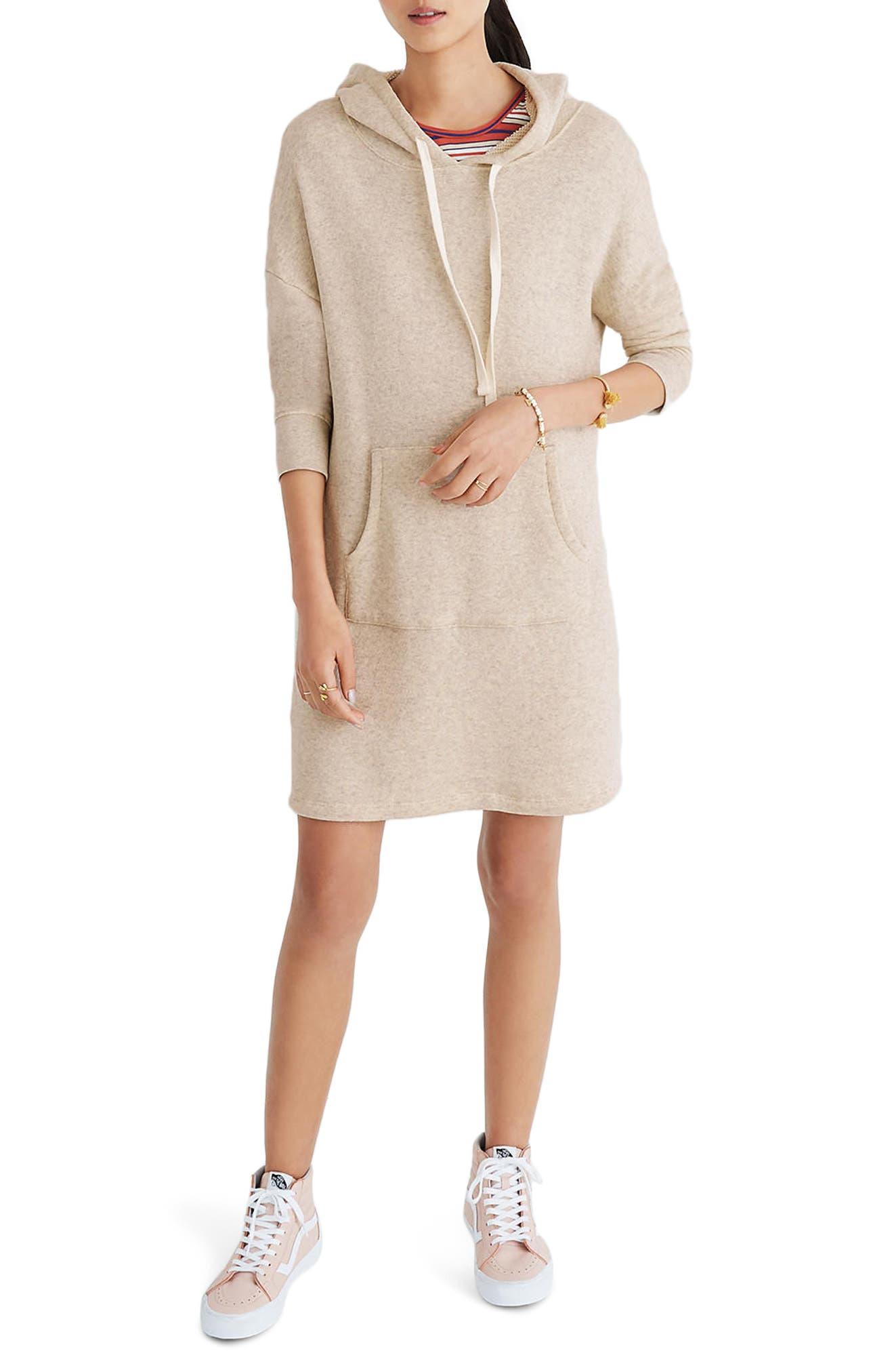 Hooded Sweatshirt Dress,                             Main thumbnail 1, color,                             020