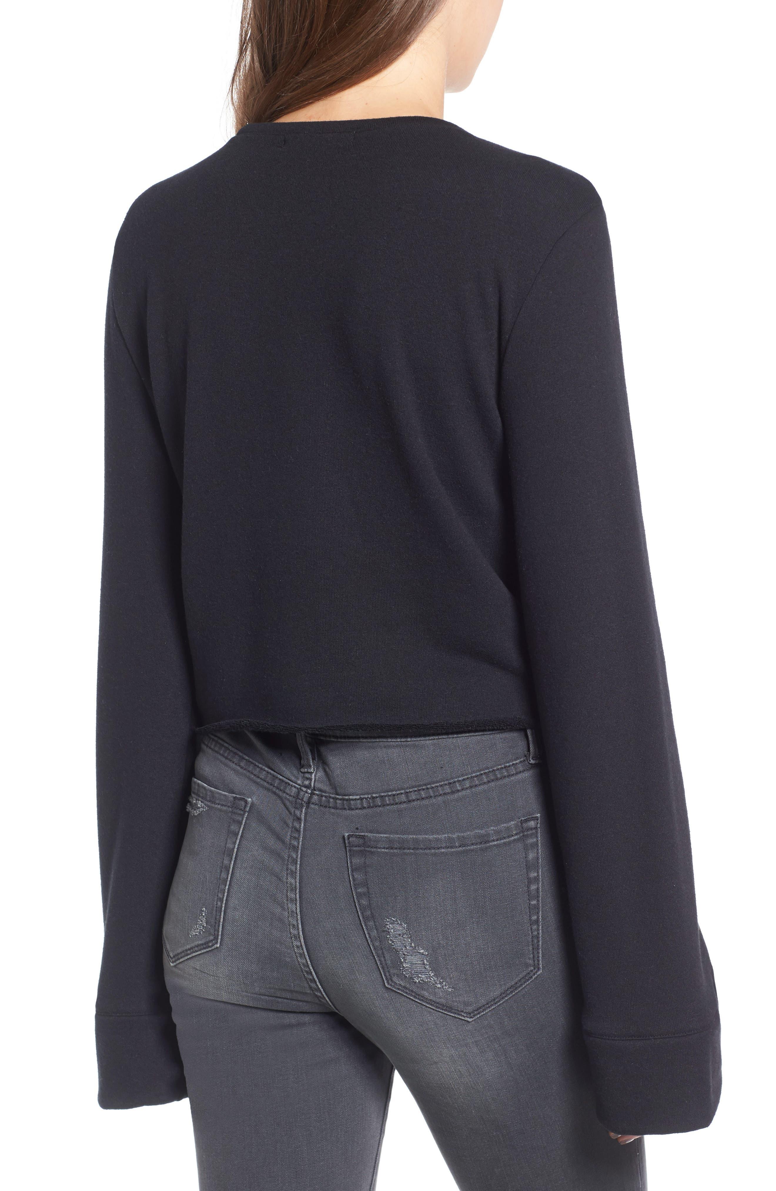 TREASURE & BOND,                             Wide Sleeve Sweatshirt,                             Alternate thumbnail 2, color,                             001
