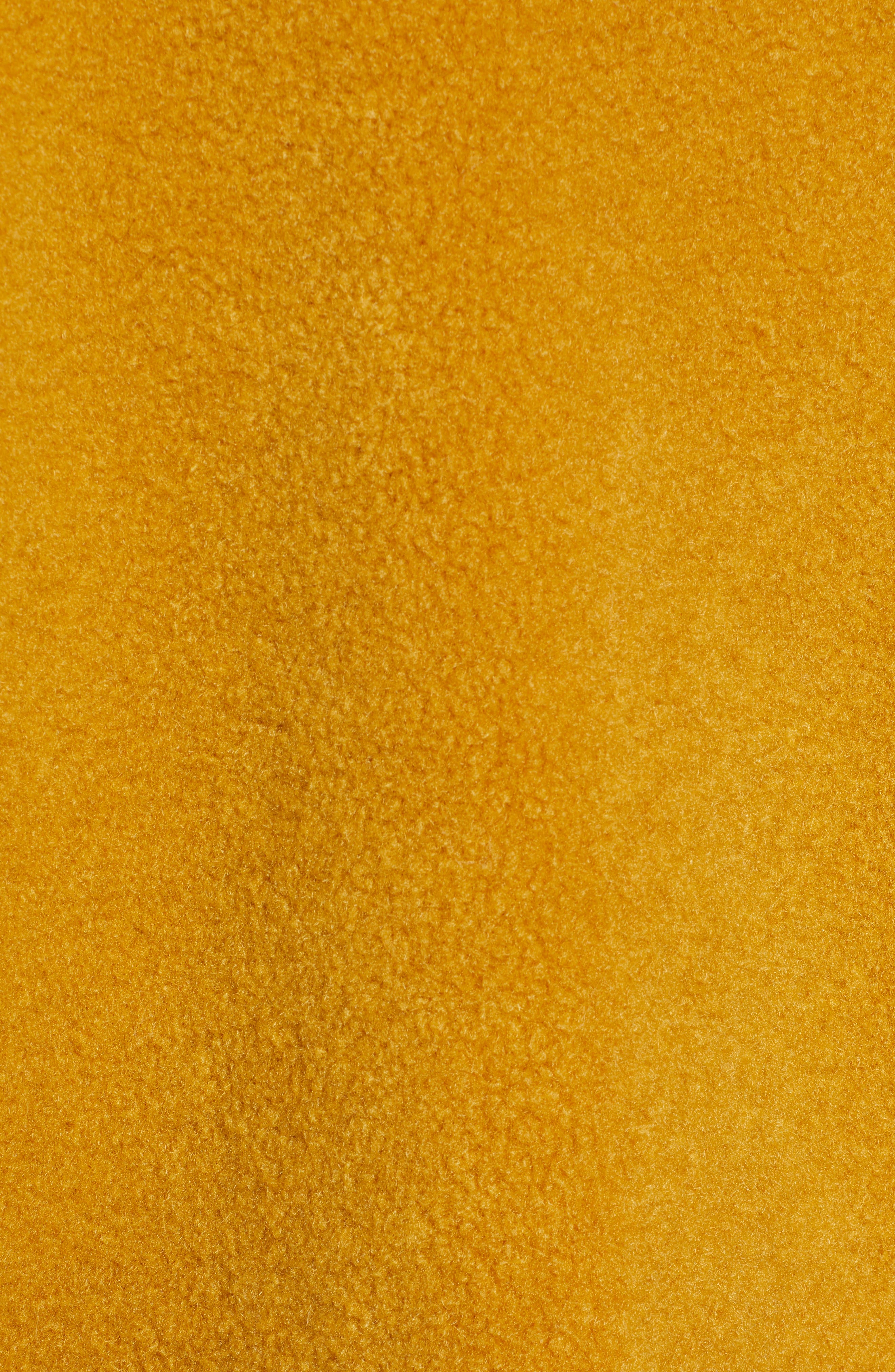 Textured Double Breasted Coat,                             Alternate thumbnail 7, color,                             YELLOW MINERAL