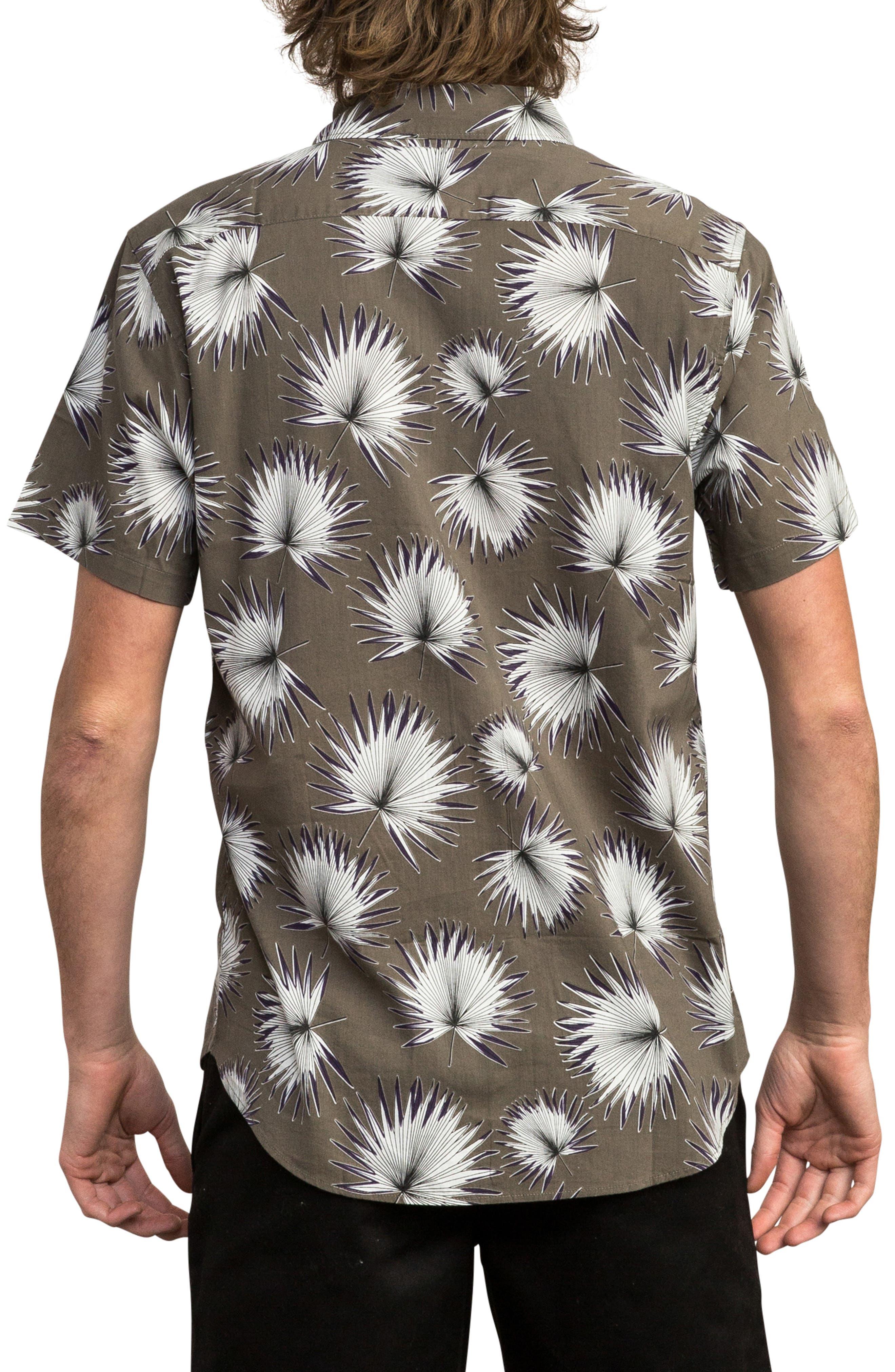Palms Woven Shirt,                             Alternate thumbnail 2, color,                             OLIVE