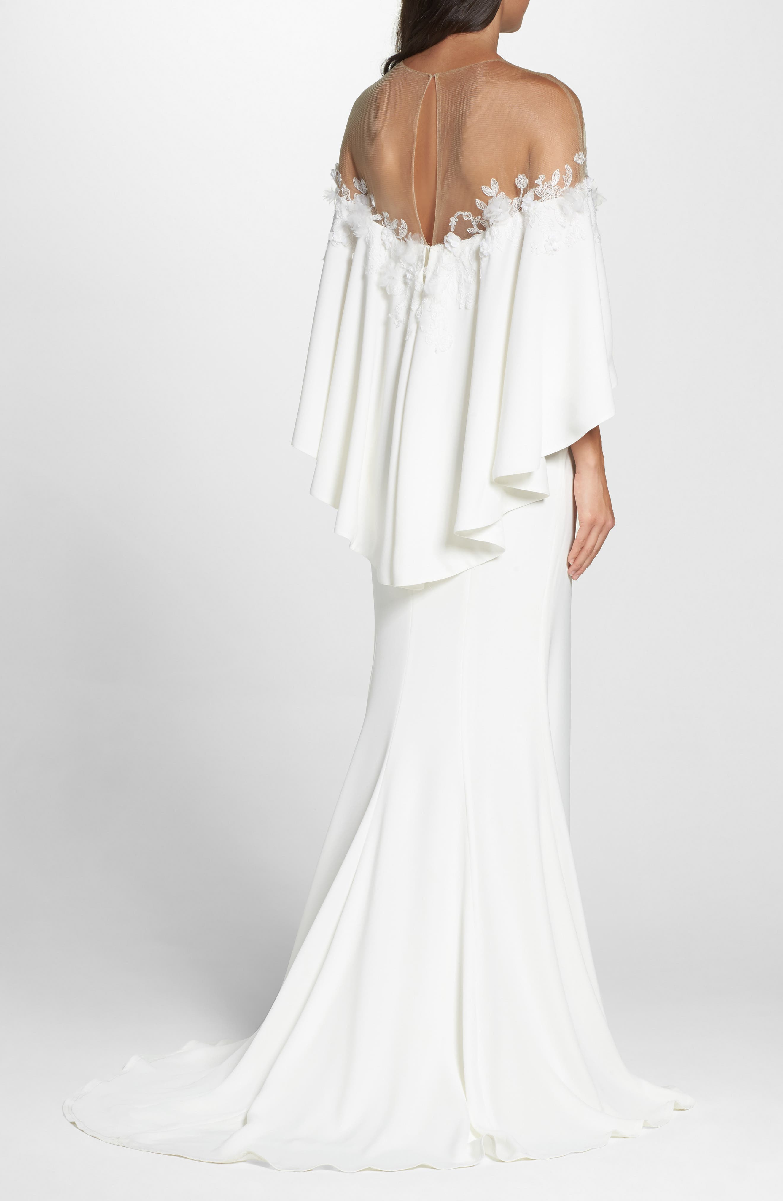 Off the Shoulder Popover Gown,                             Alternate thumbnail 2, color,                             IVORY