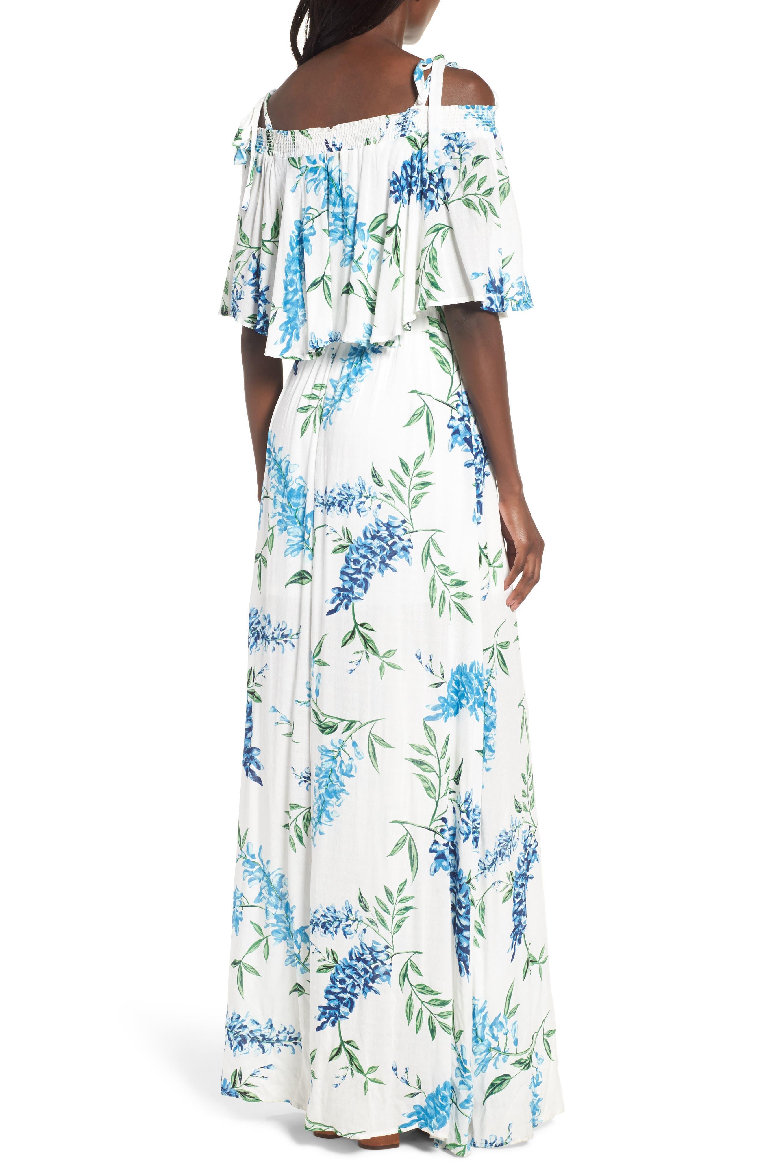 Nicola Ruffle Maxi Dress,                             Alternate thumbnail 2, color,                             400