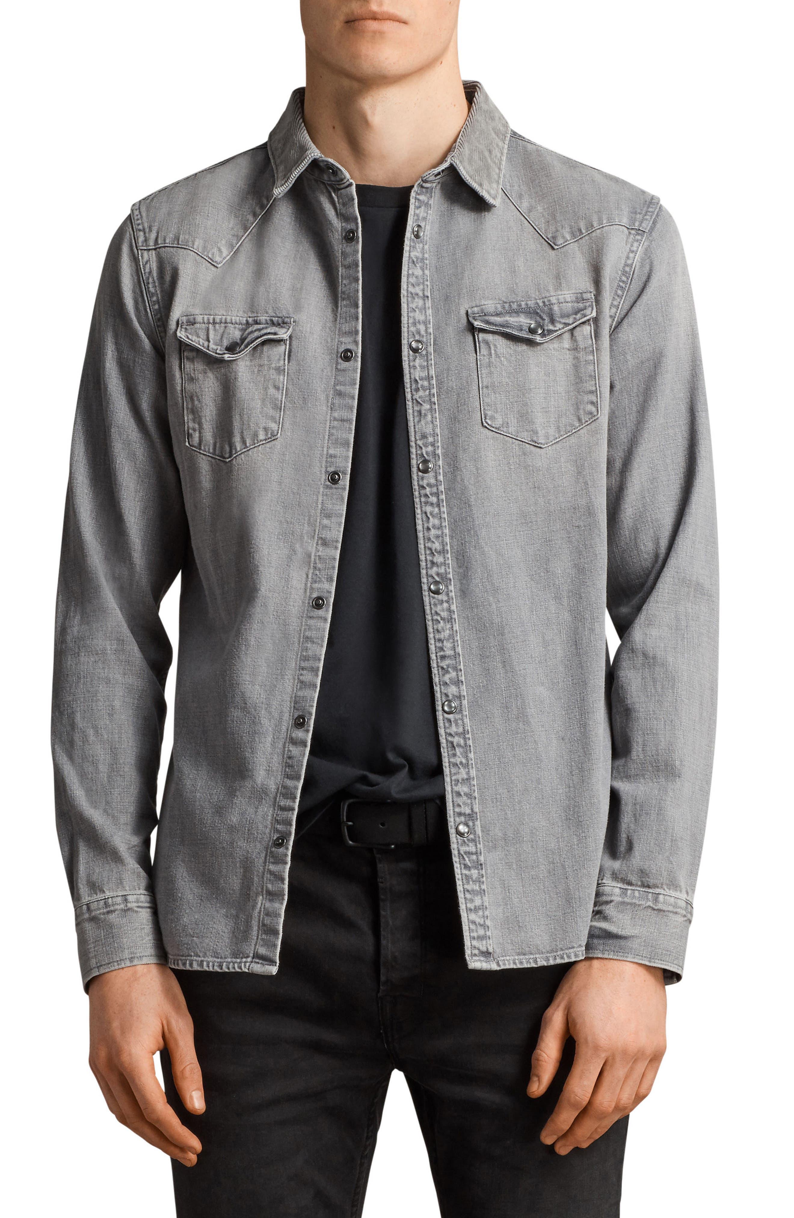 Gamble Slim Fit Sport Shirt,                         Main,                         color, 033