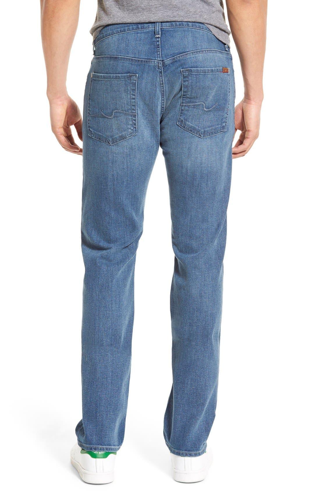 'Standard' Straight Leg Jeans,                             Alternate thumbnail 4, color,                             401
