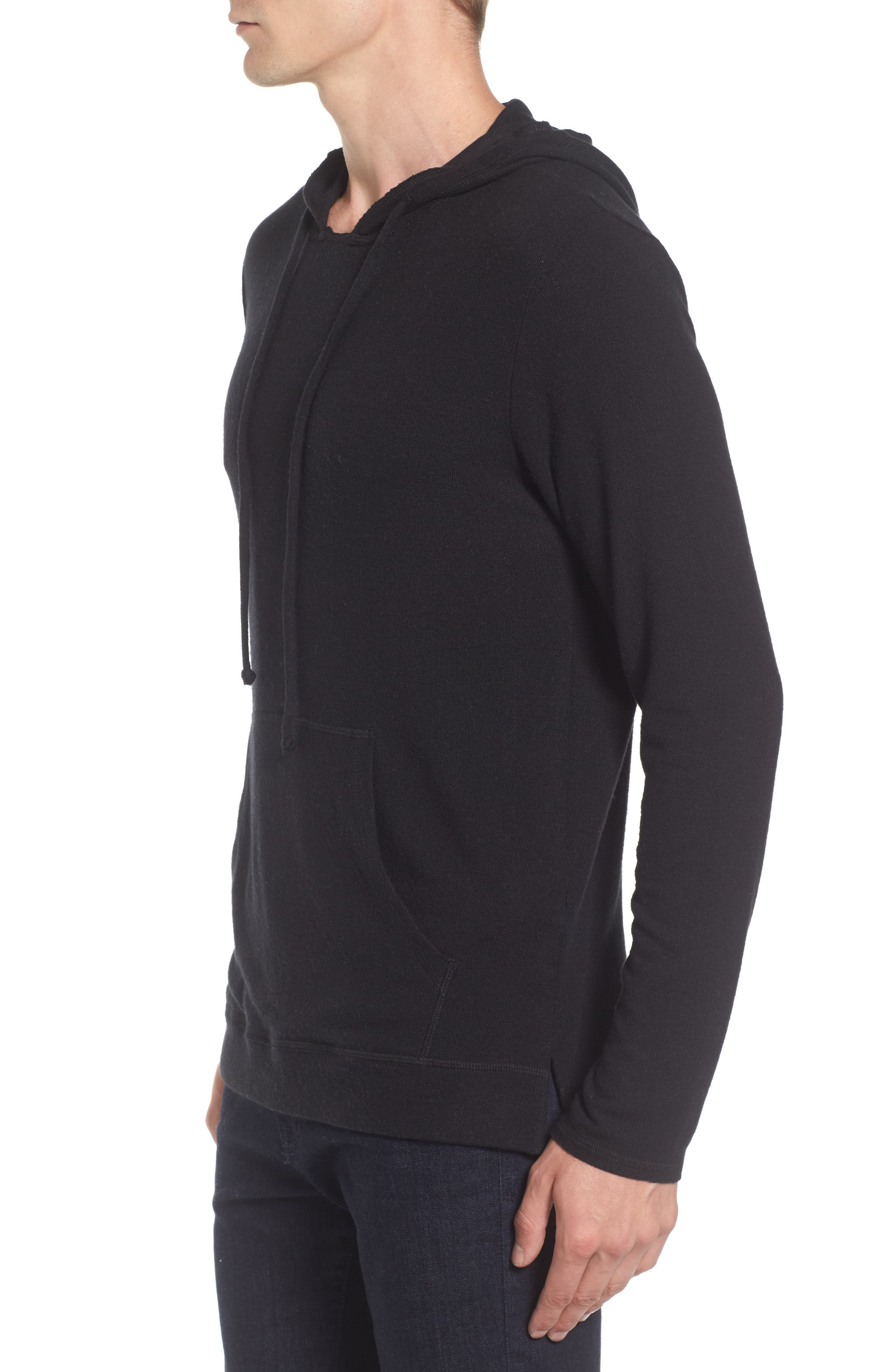 Modern Trim Pullover Hoodie,                             Alternate thumbnail 3, color,                             001