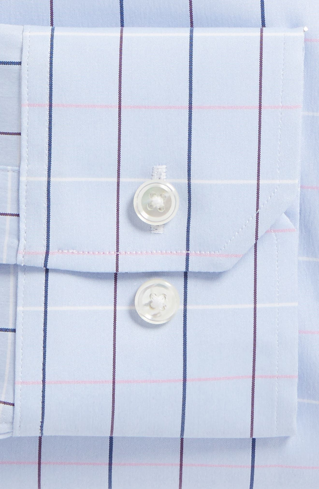 Jetsetter Slim Fit Stretch Check Dress Shirt,                             Alternate thumbnail 6, color,                             400