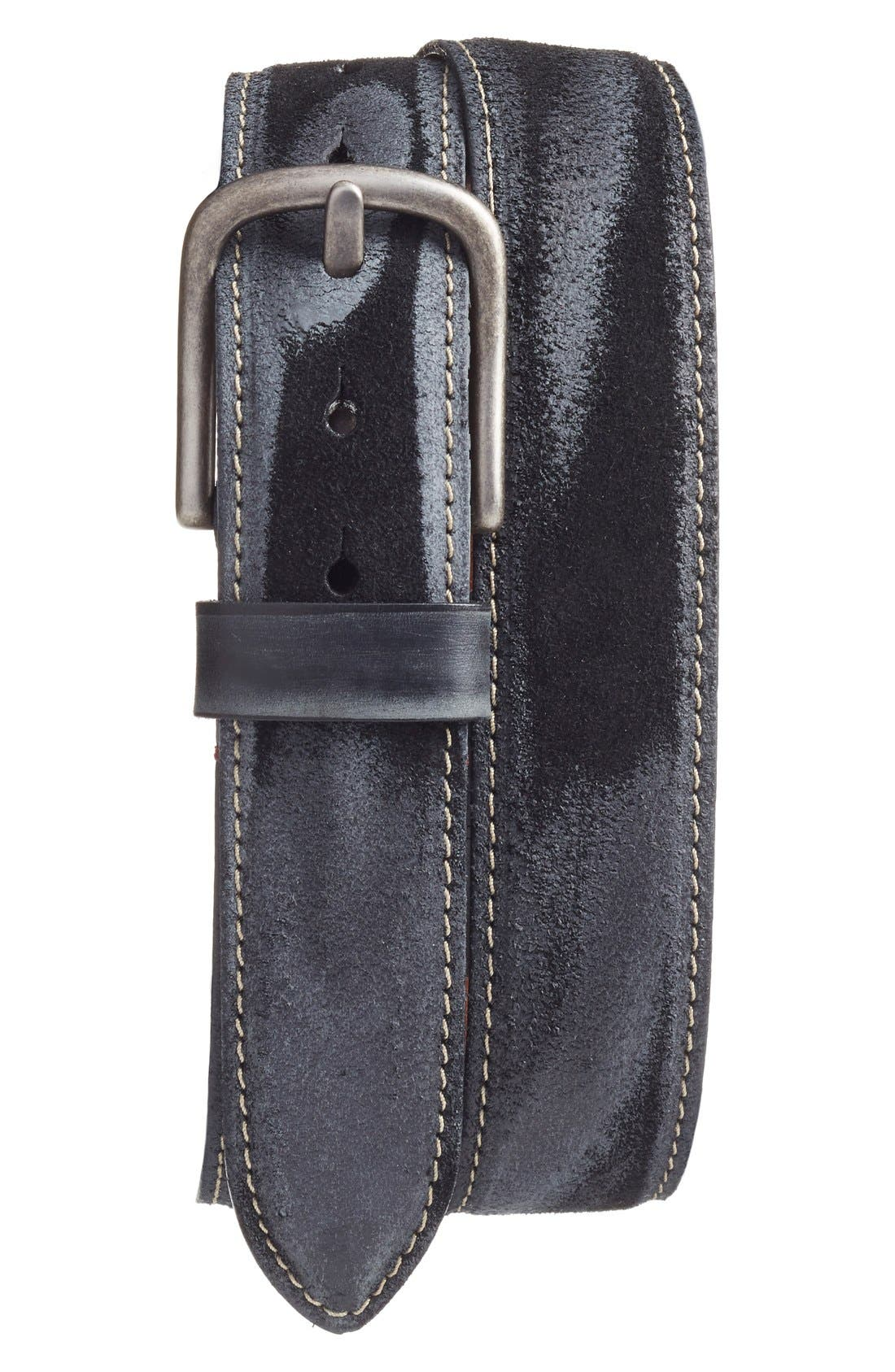Leather Belt,                             Main thumbnail 1, color,                             001