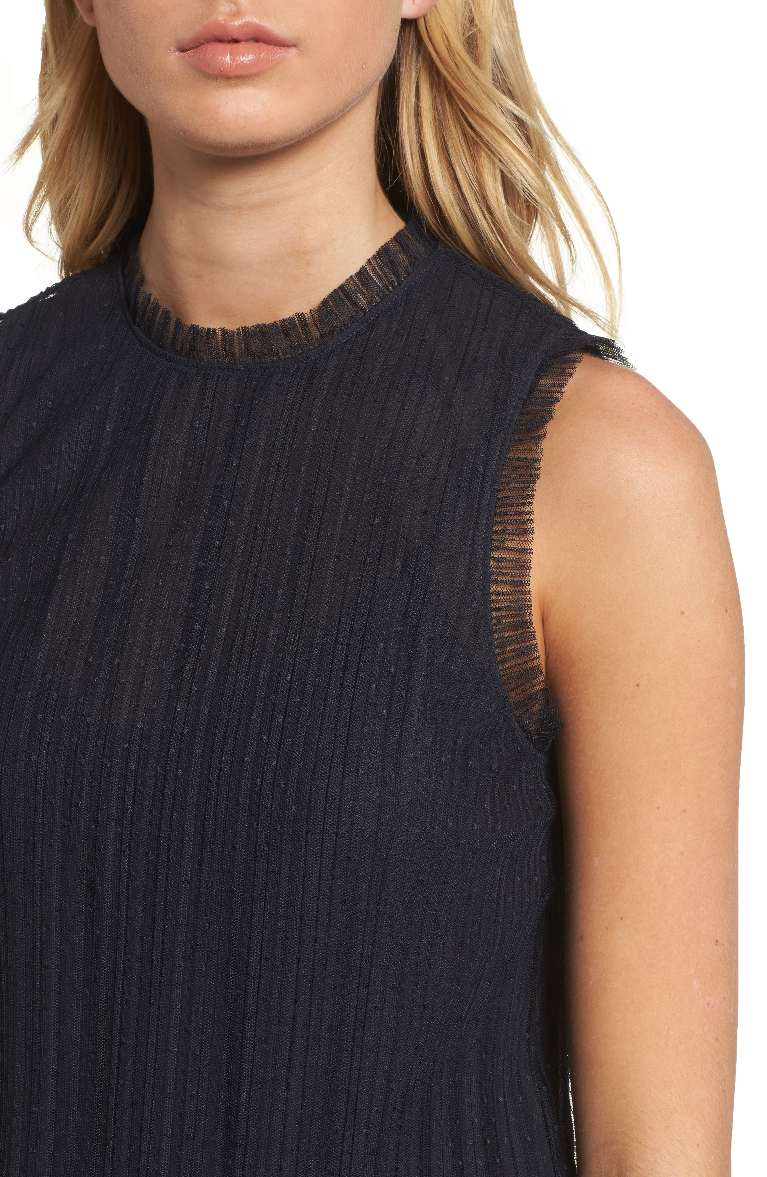 Dotted Mesh Top,                             Alternate thumbnail 13, color,