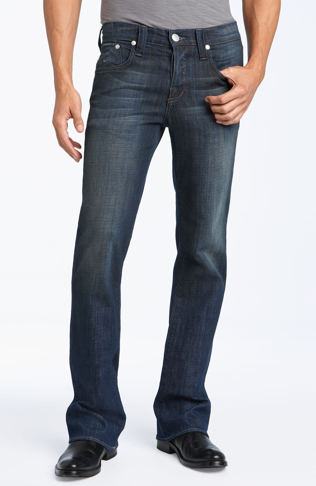 'Floyd' Relaxed Bootcut Jeans,                             Alternate thumbnail 2, color,                             418