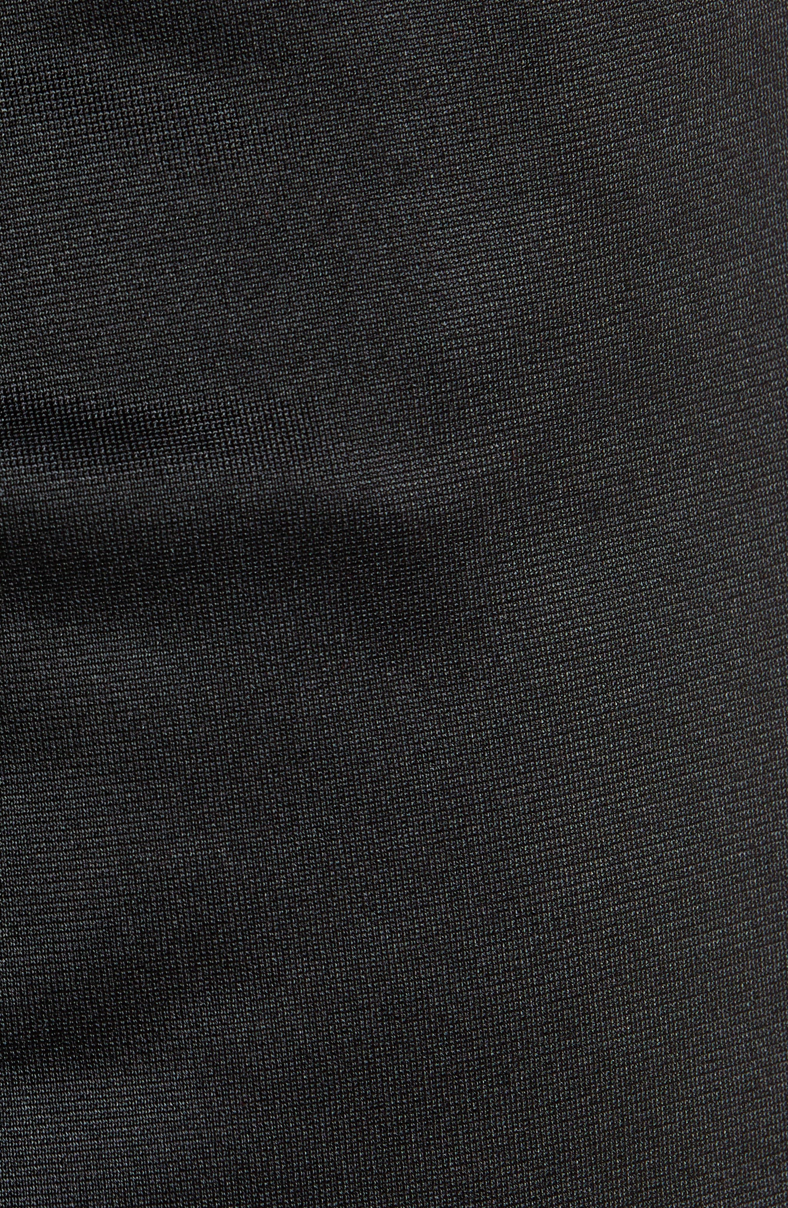 Active Banded Track Pants,                             Alternate thumbnail 5, color,                             BLACK/ BLACK