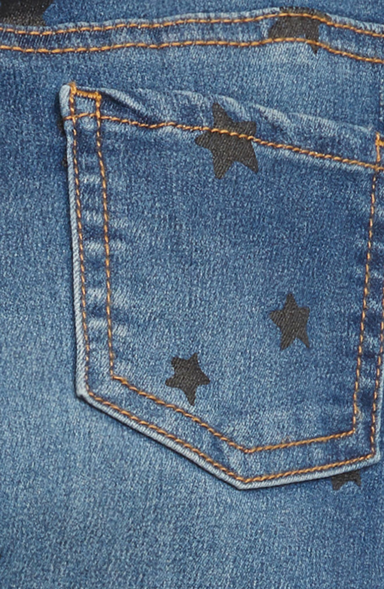 Print Jeggings,                             Alternate thumbnail 3, color,                             INDIGO WASH STARS