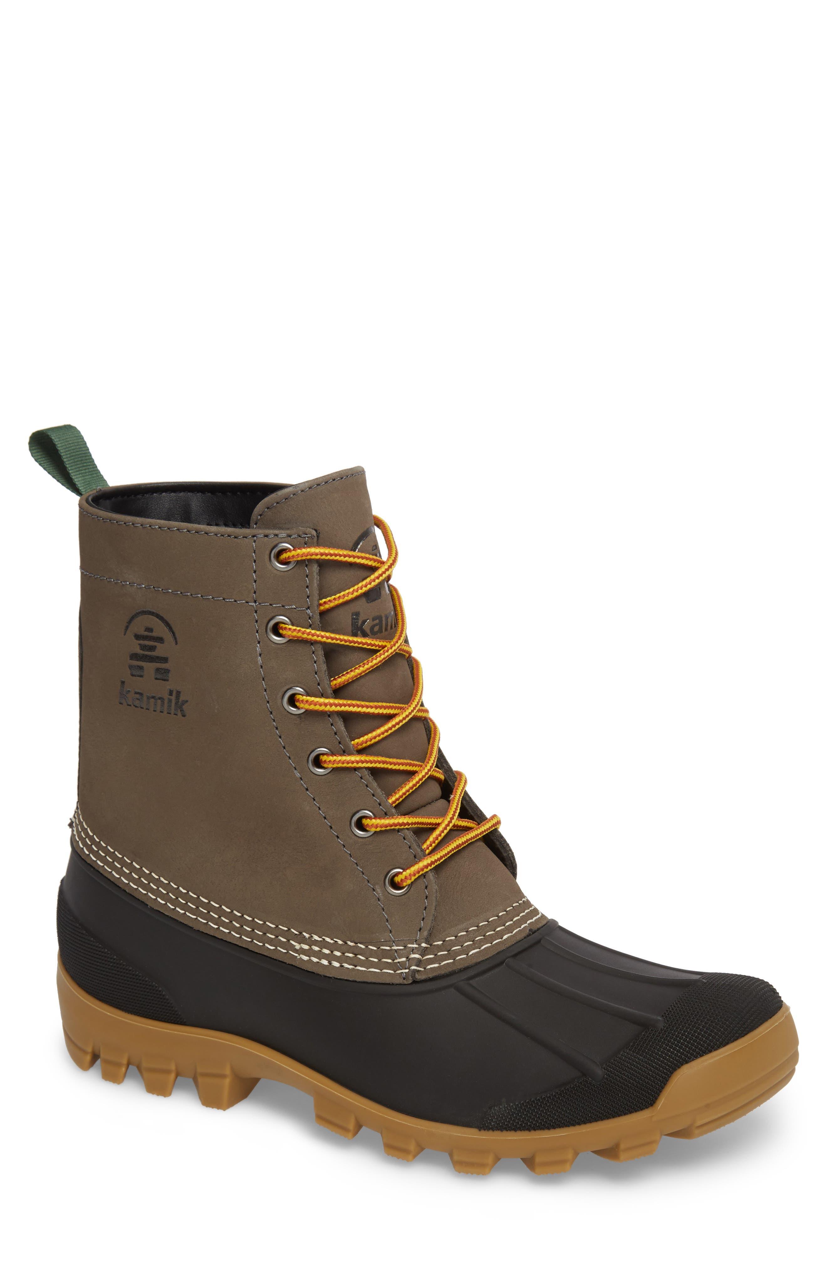 Yukon 6 Waterproof Insulated Three-Season Boot,                         Main,                         color, CHARCOAL LEATHER