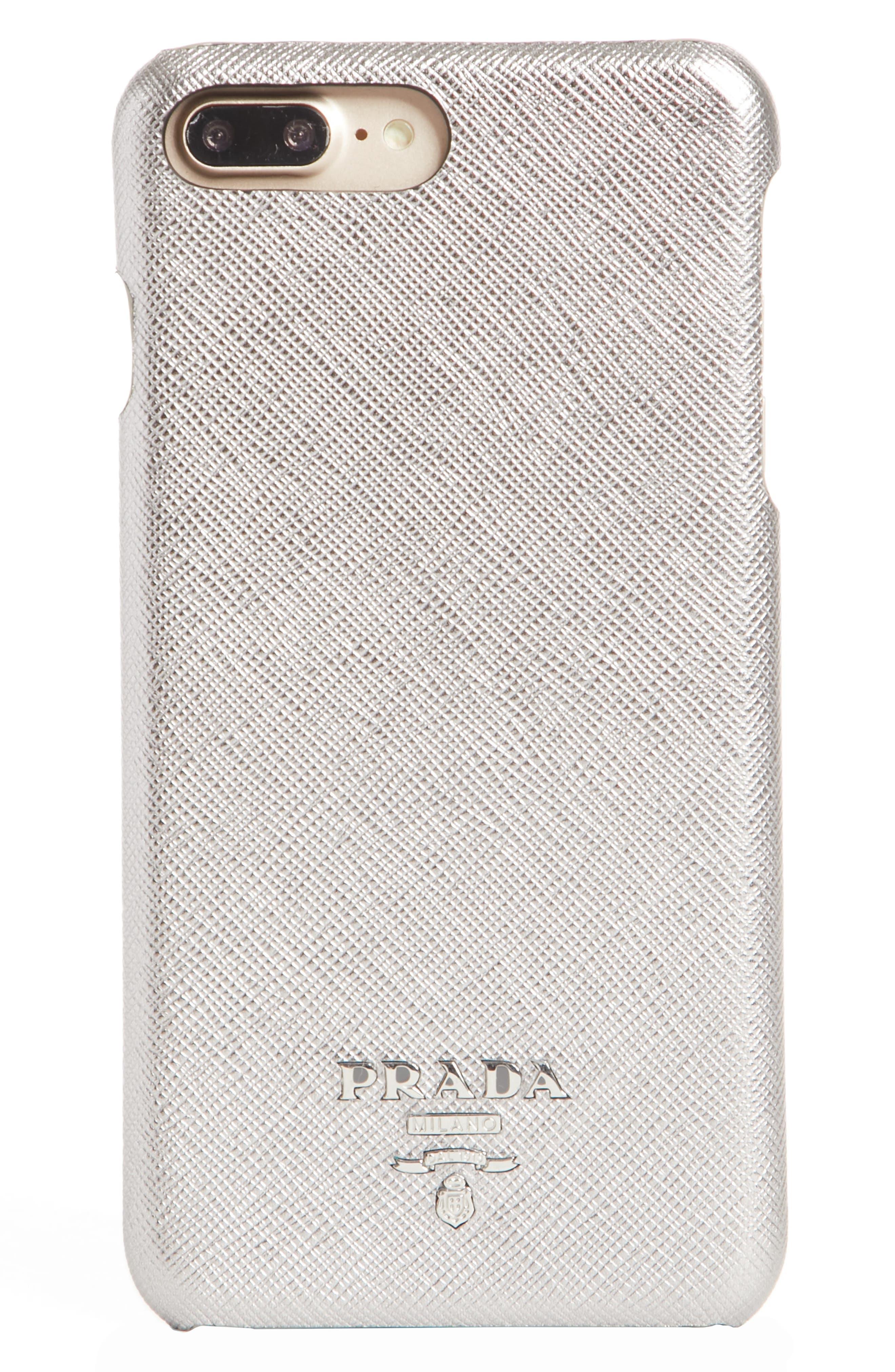 Saffiano Metal Oro iPhone 7/8 Plus Case,                             Main thumbnail 2, color,