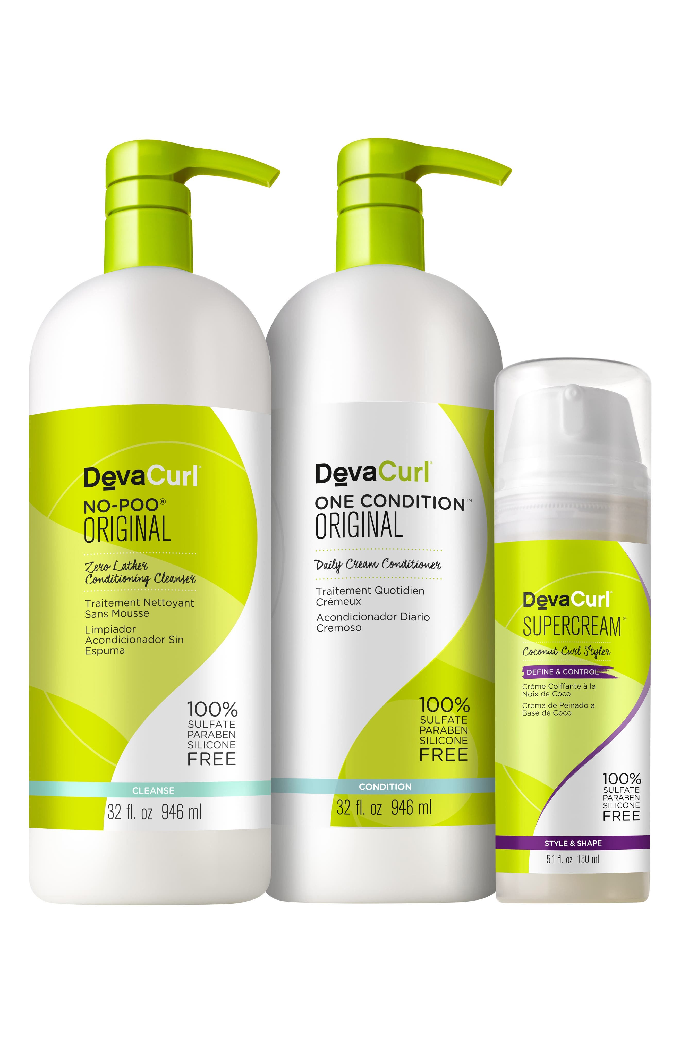 Super Pumped Curly Hair Care Kit,                         Main,                         color, 000