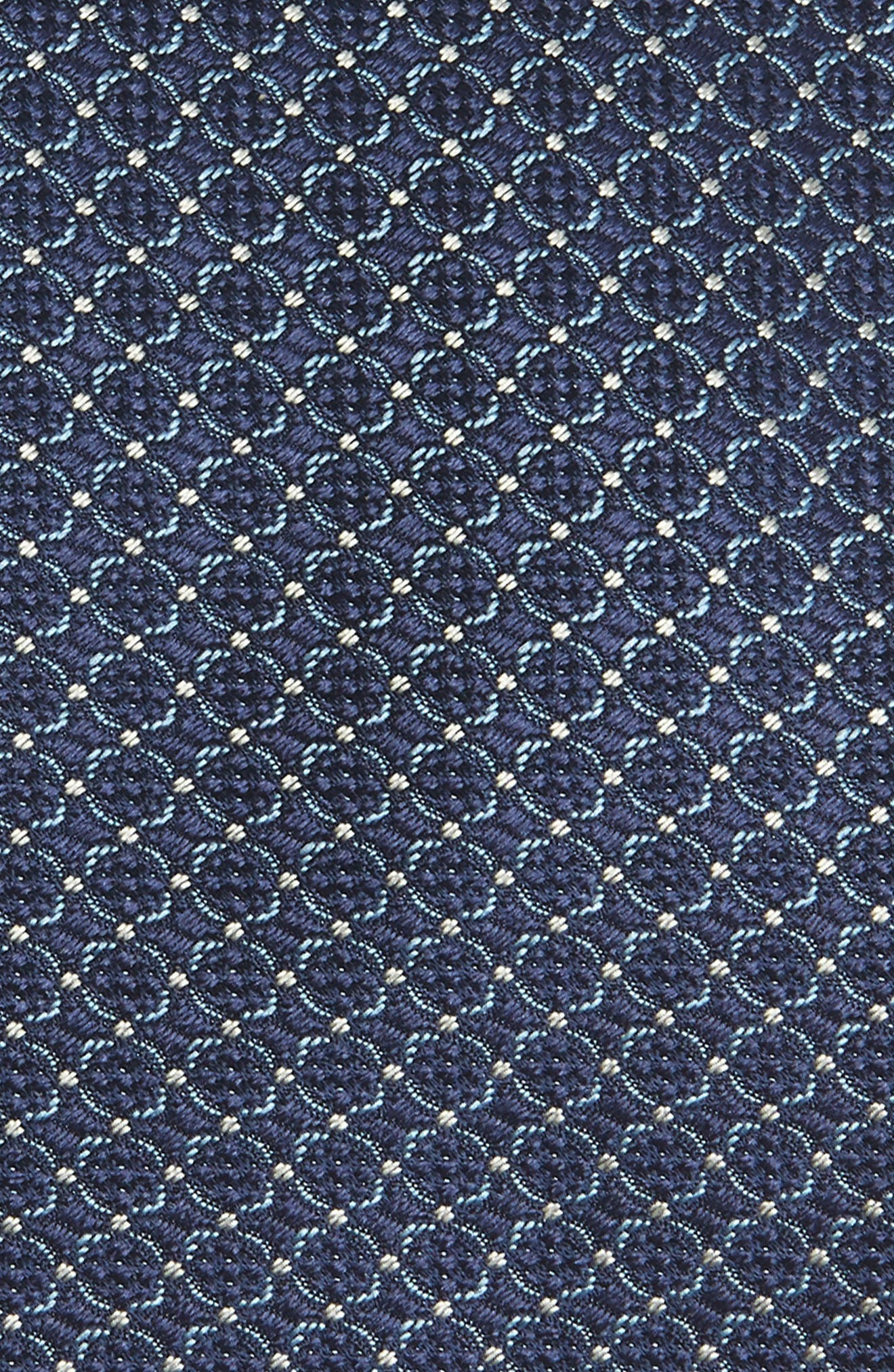 Geometric Silk Tie,                             Alternate thumbnail 2, color,                             BRIGHT BLUE