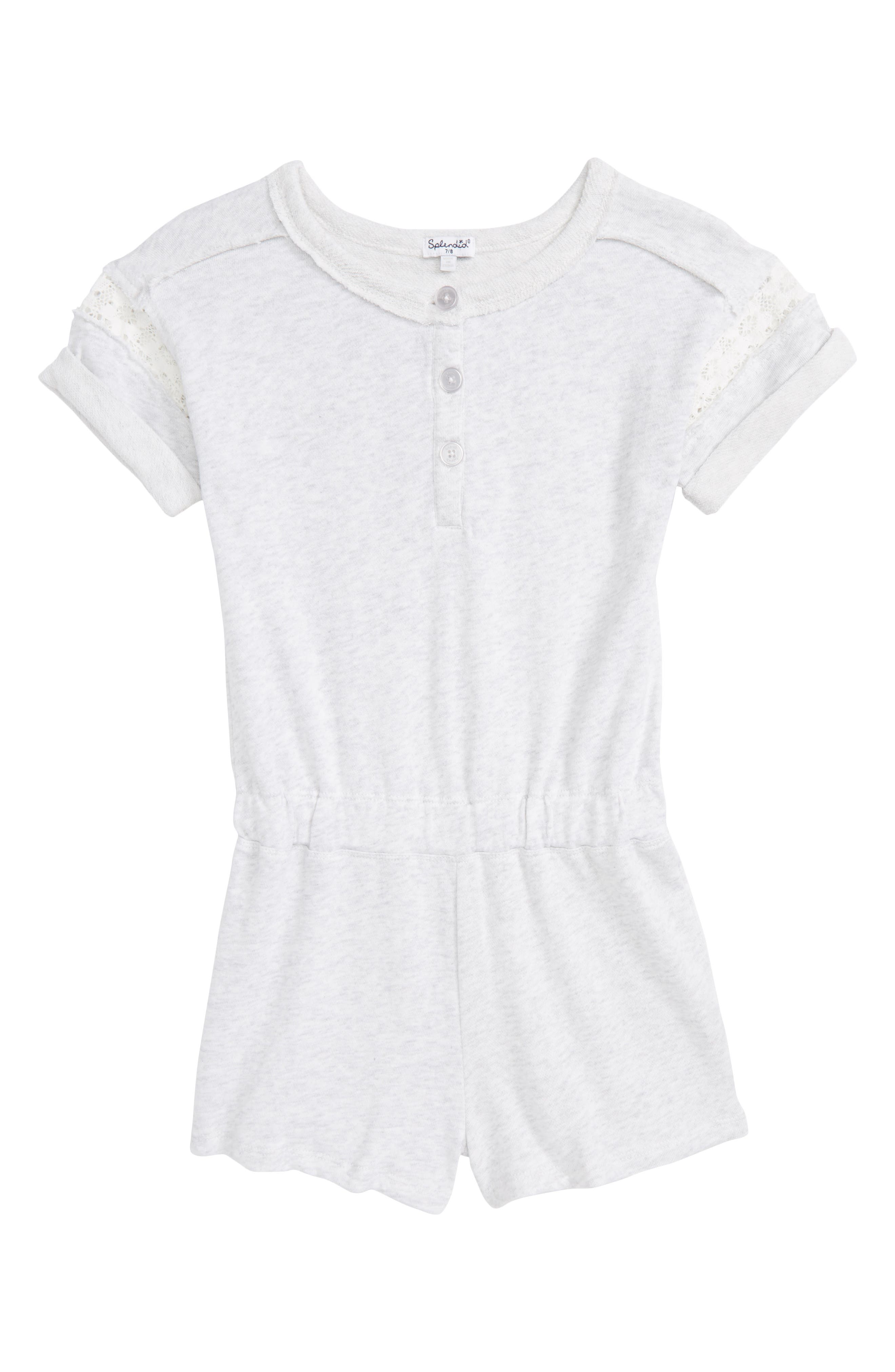 French Terry Romper,                         Main,                         color,