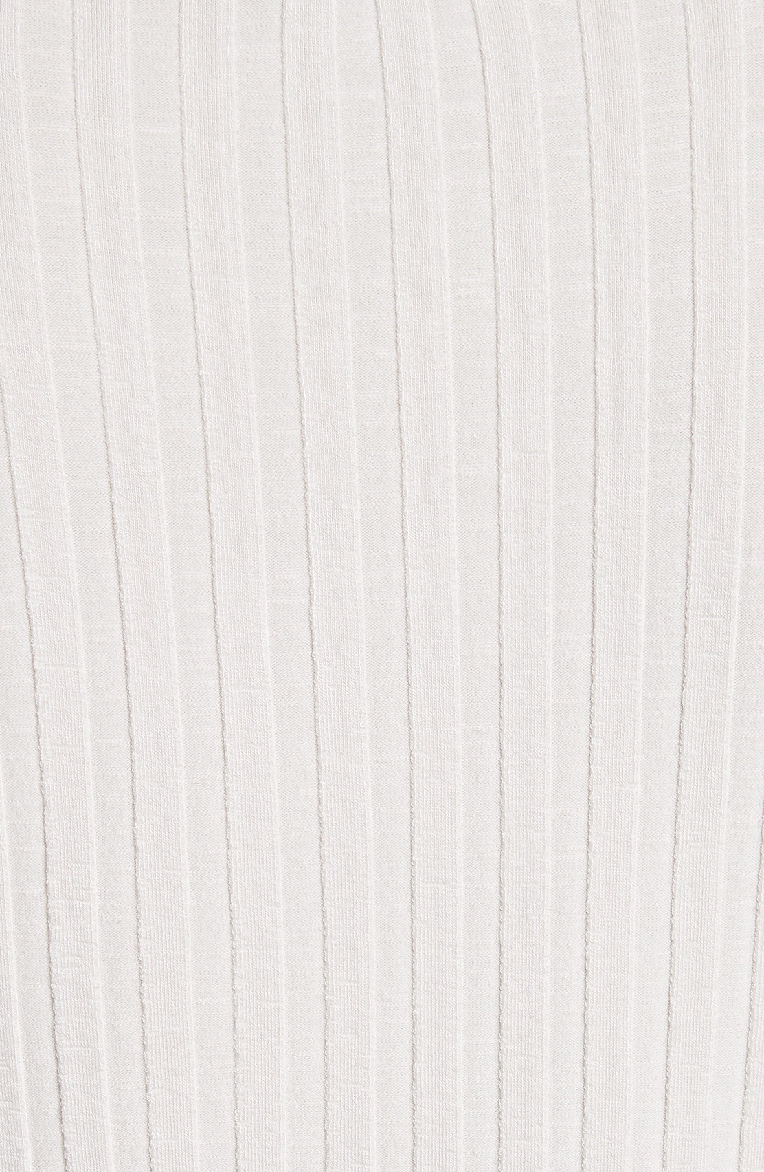 Devola Rib Knit Tee,                             Alternate thumbnail 5, color,                             020