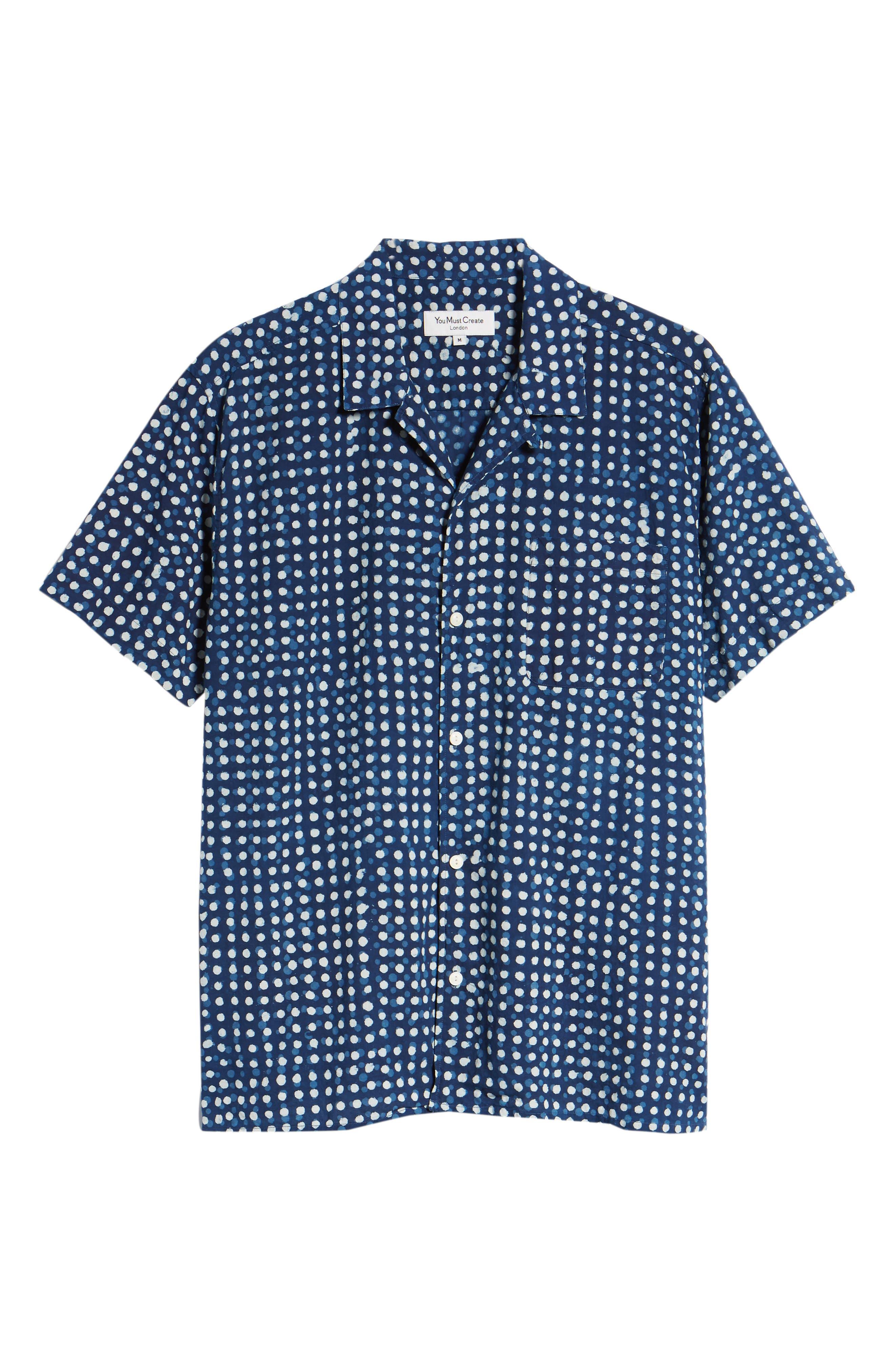 Malick Slim Fit Dot Sport Shirt,                             Alternate thumbnail 6, color,                             406