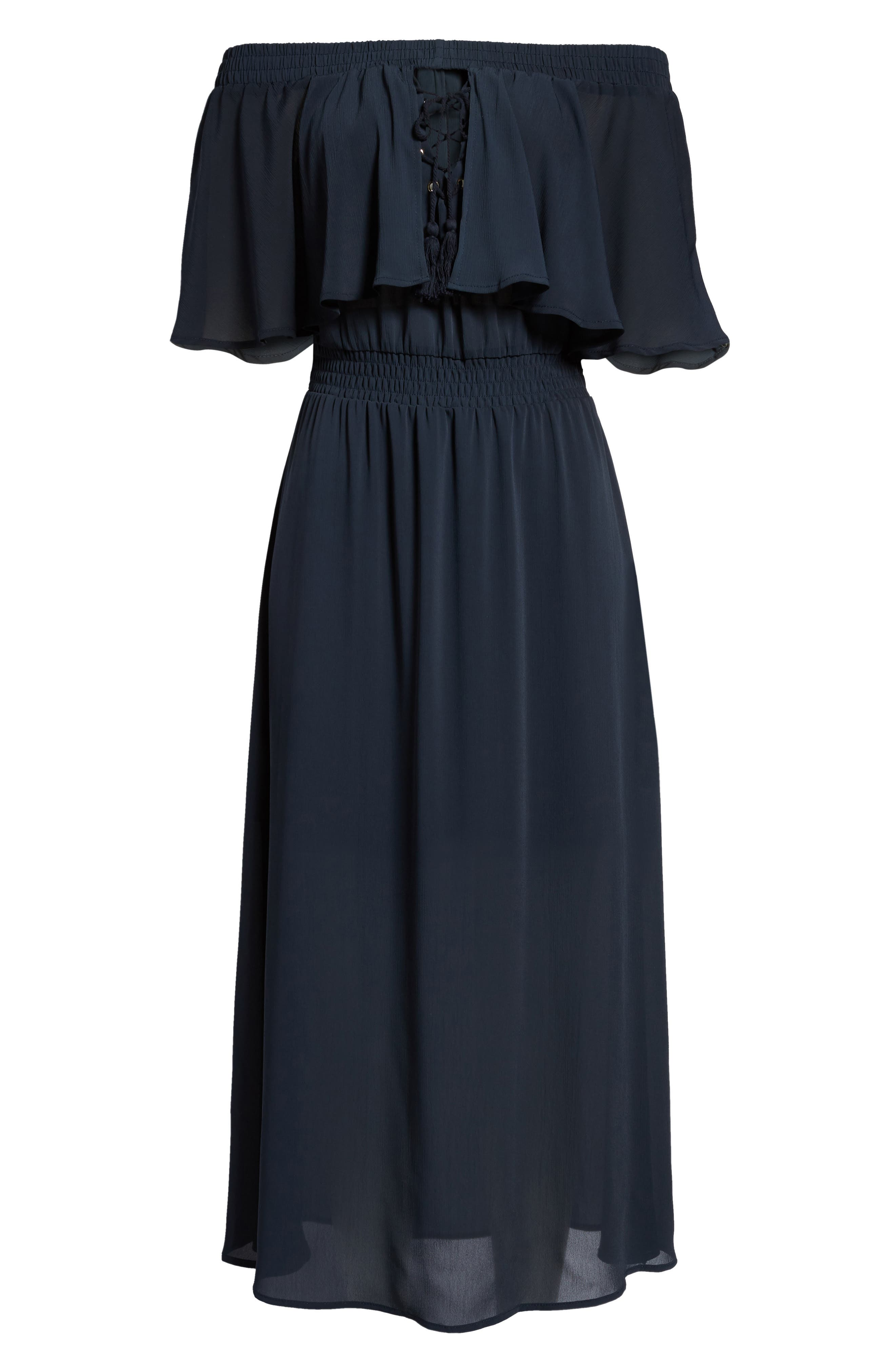 Touch the Sun Off the Shoulder Dress,                             Alternate thumbnail 6, color,                             410