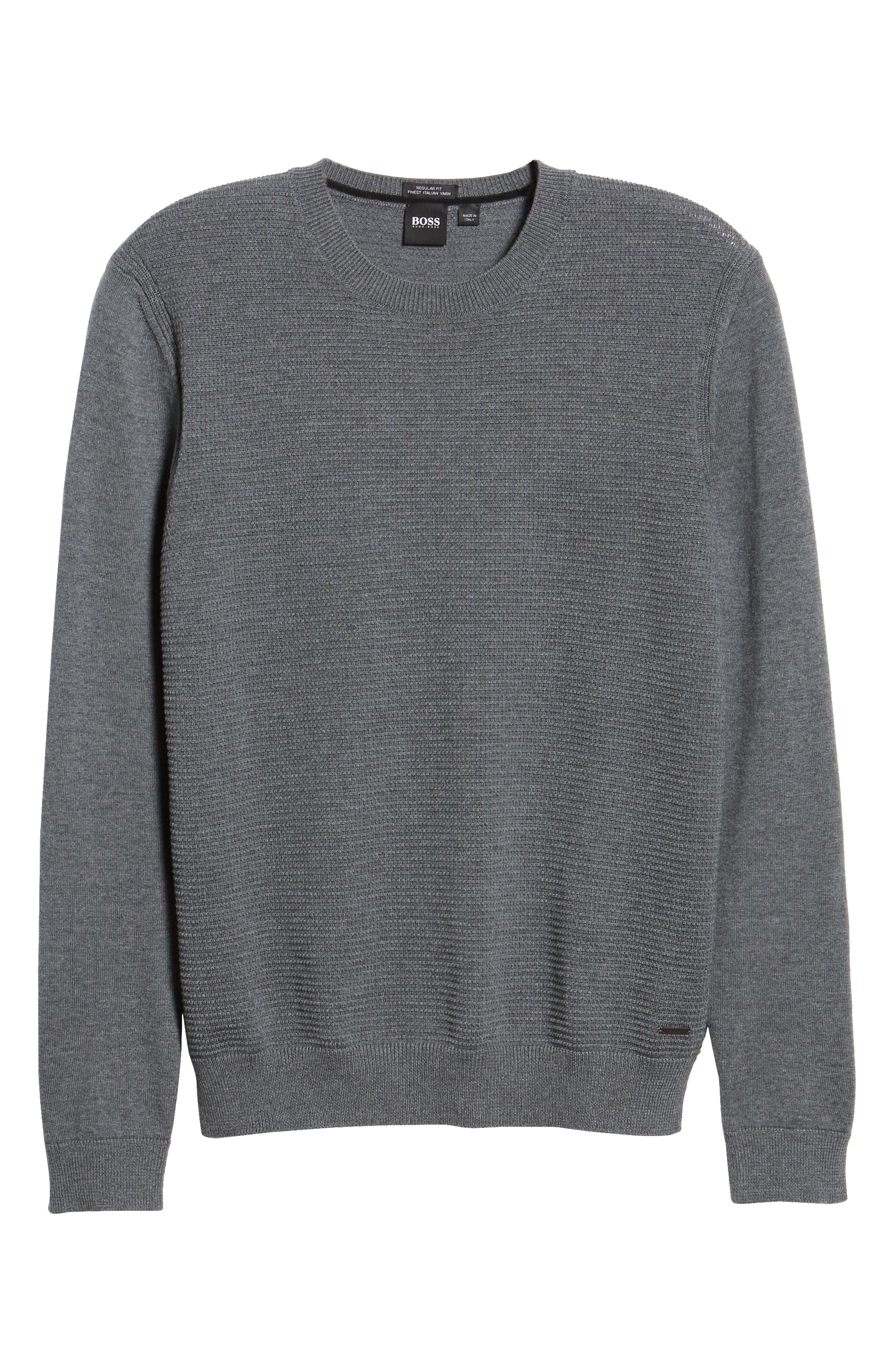 BOSS,                             Ellegri Regular Fit Wool Pullover,                             Alternate thumbnail 6, color,                             030