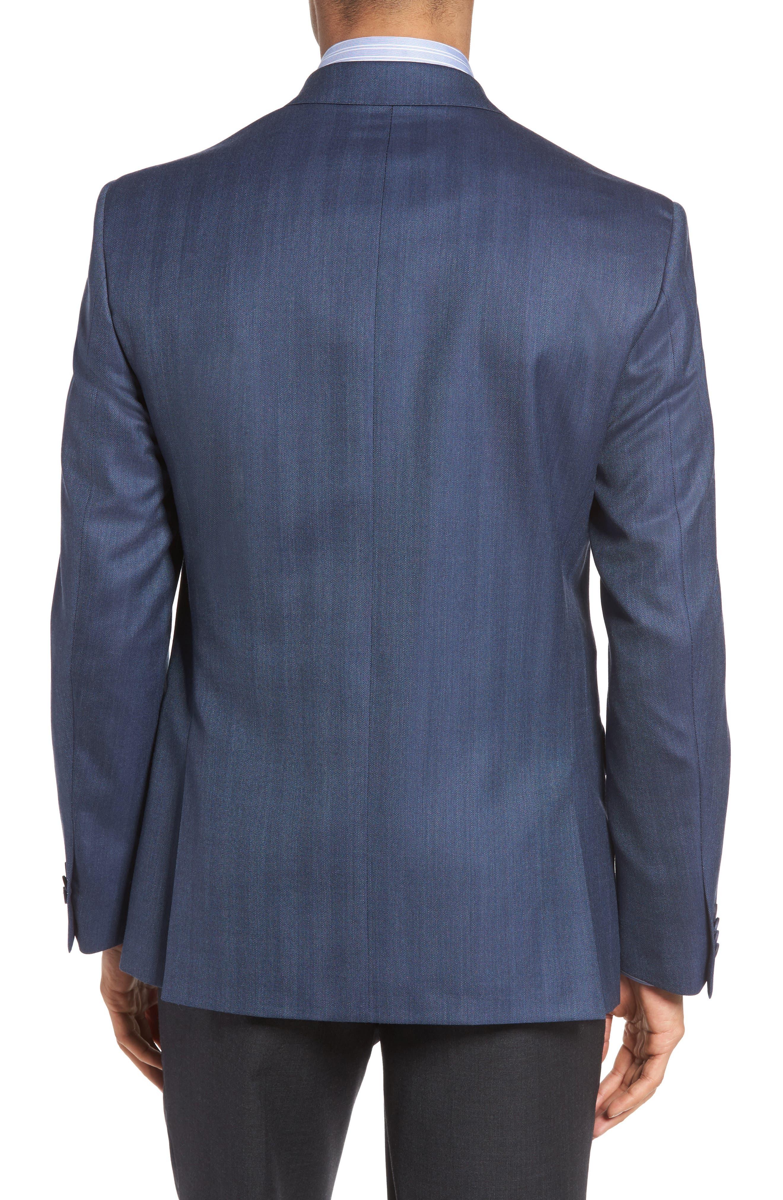 Classic Fit Herringbone Wool Sport Coat,                             Alternate thumbnail 2, color,                             422