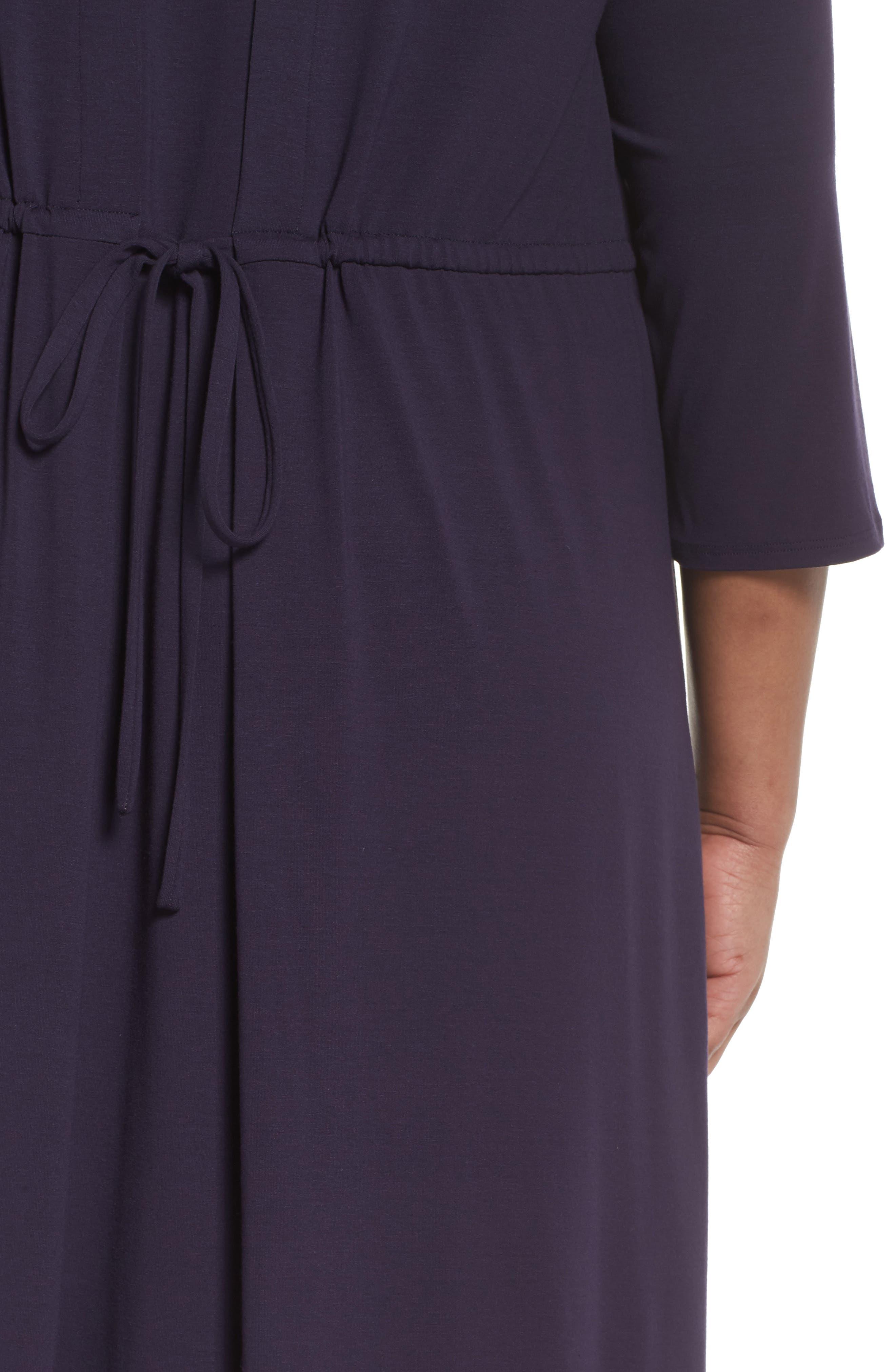 Jewel Neck Tie Back Dress,                             Alternate thumbnail 19, color,