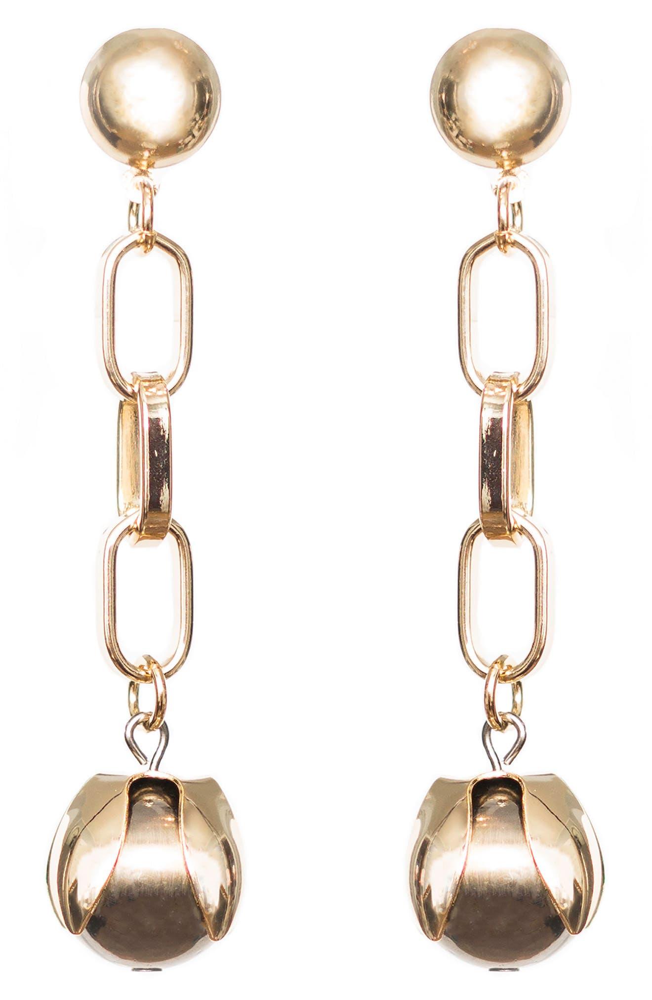 Orb Drop Chain Earrings,                             Main thumbnail 1, color,                             710