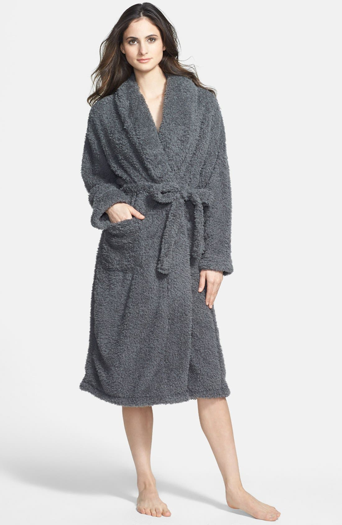 Stretch Chenille Robe,                             Main thumbnail 1, color,                             016