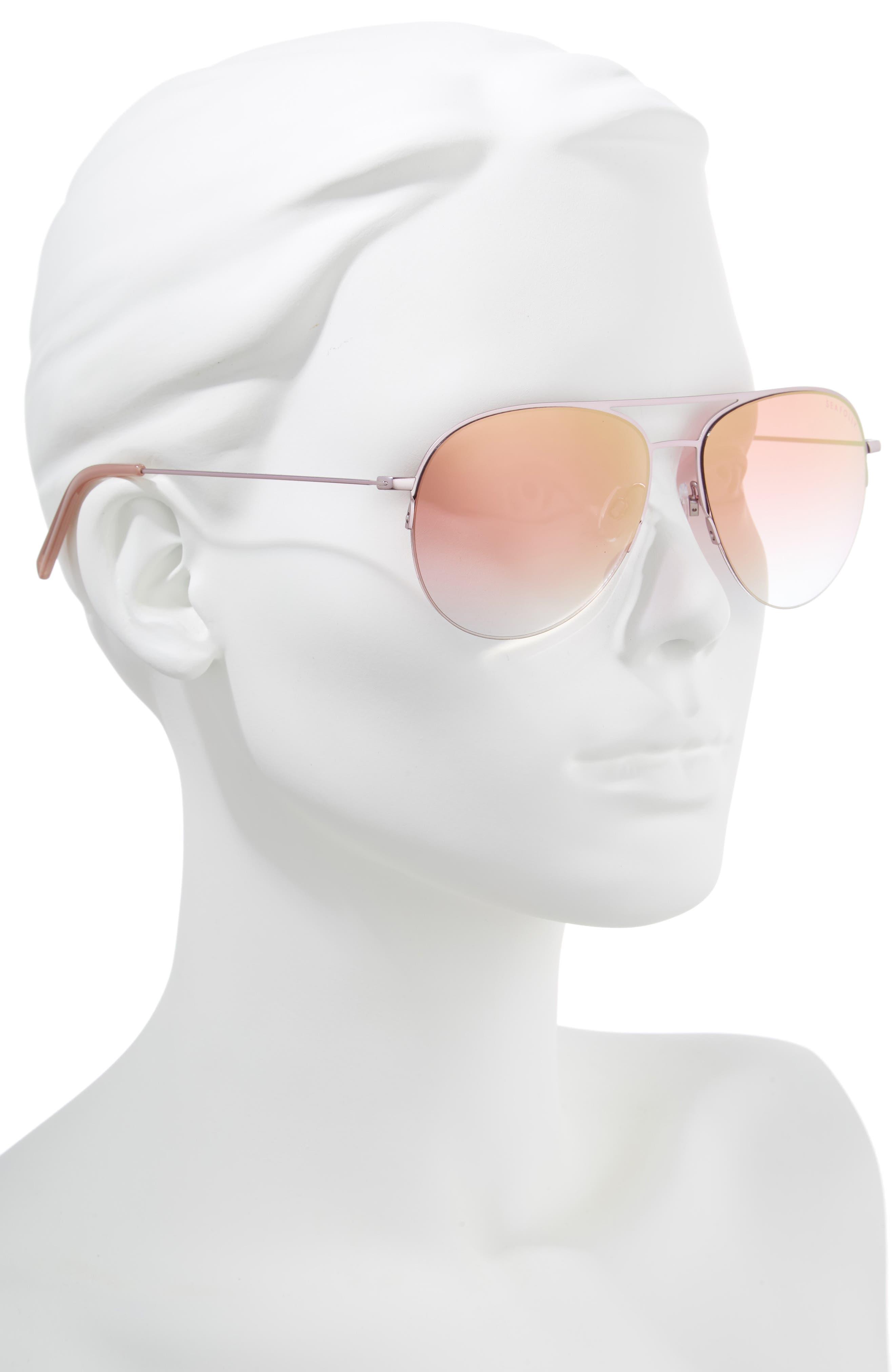 Tamarama 60mm Aviator Sunglasses,                             Alternate thumbnail 2, color,                             612
