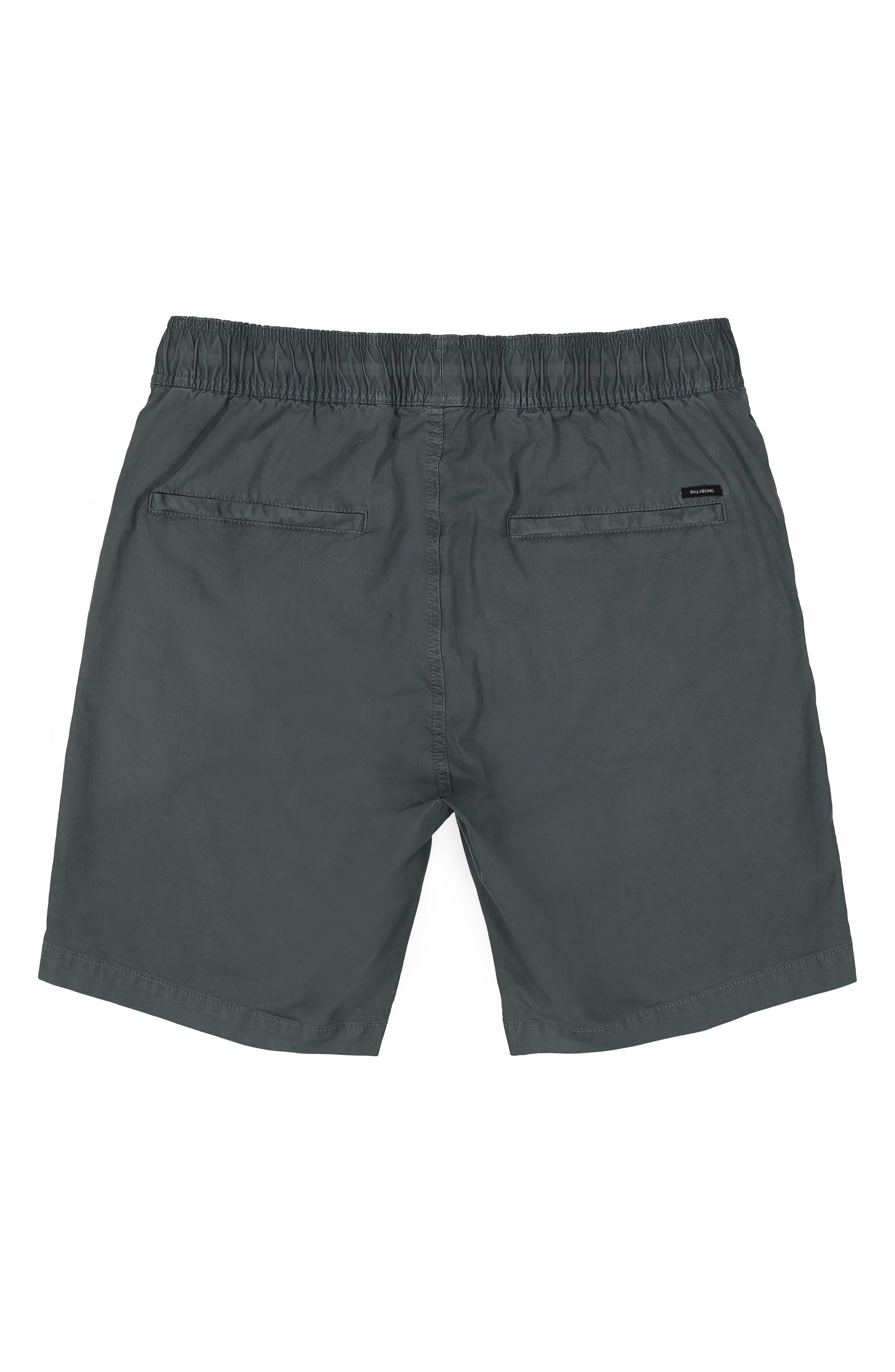 BILLABONG,                             Larry Layback Stretch Cotton Shorts,                             Alternate thumbnail 2, color,                             WASHED SLATE
