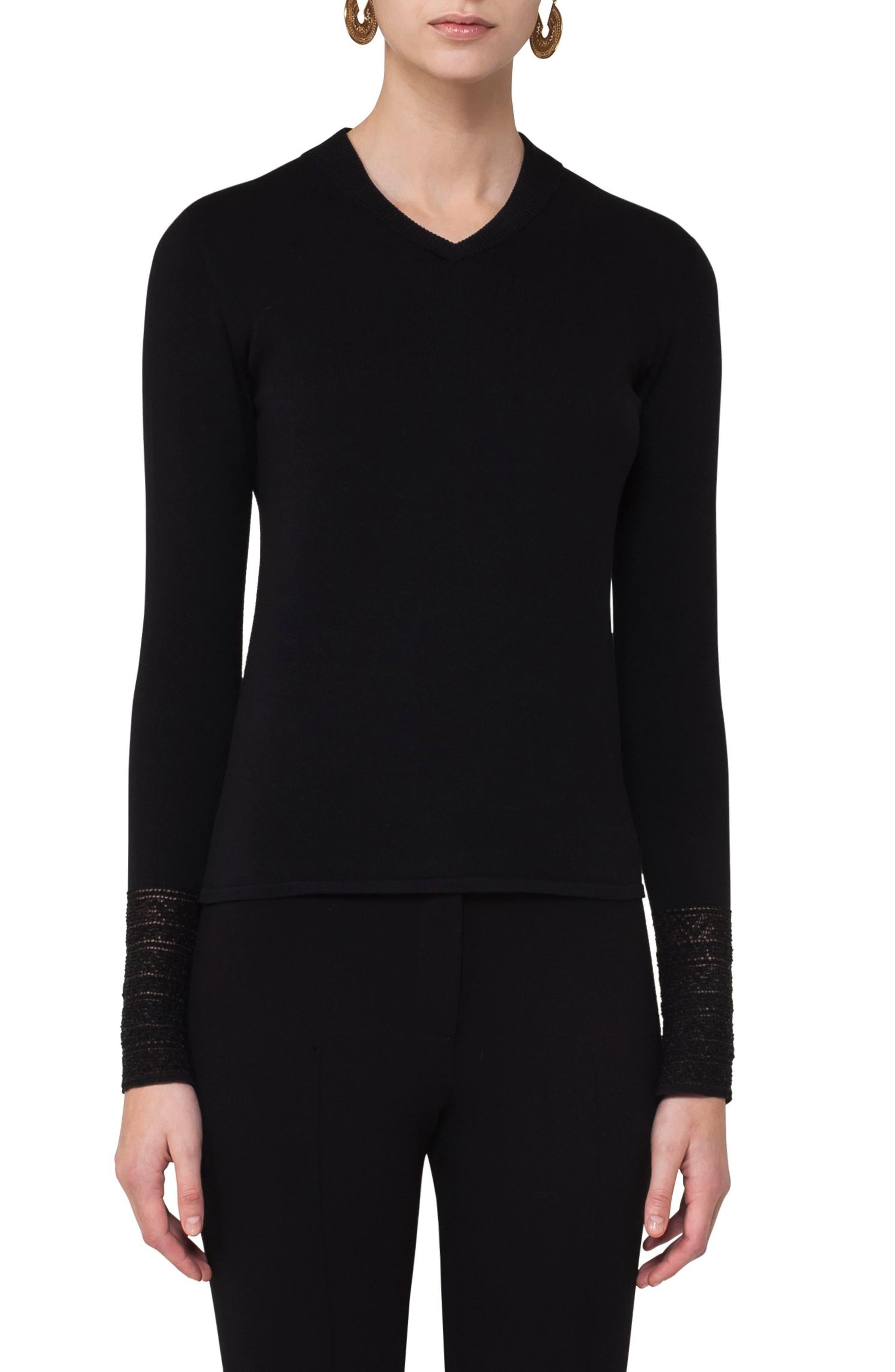 Lace Cuff Pullover,                         Main,                         color,