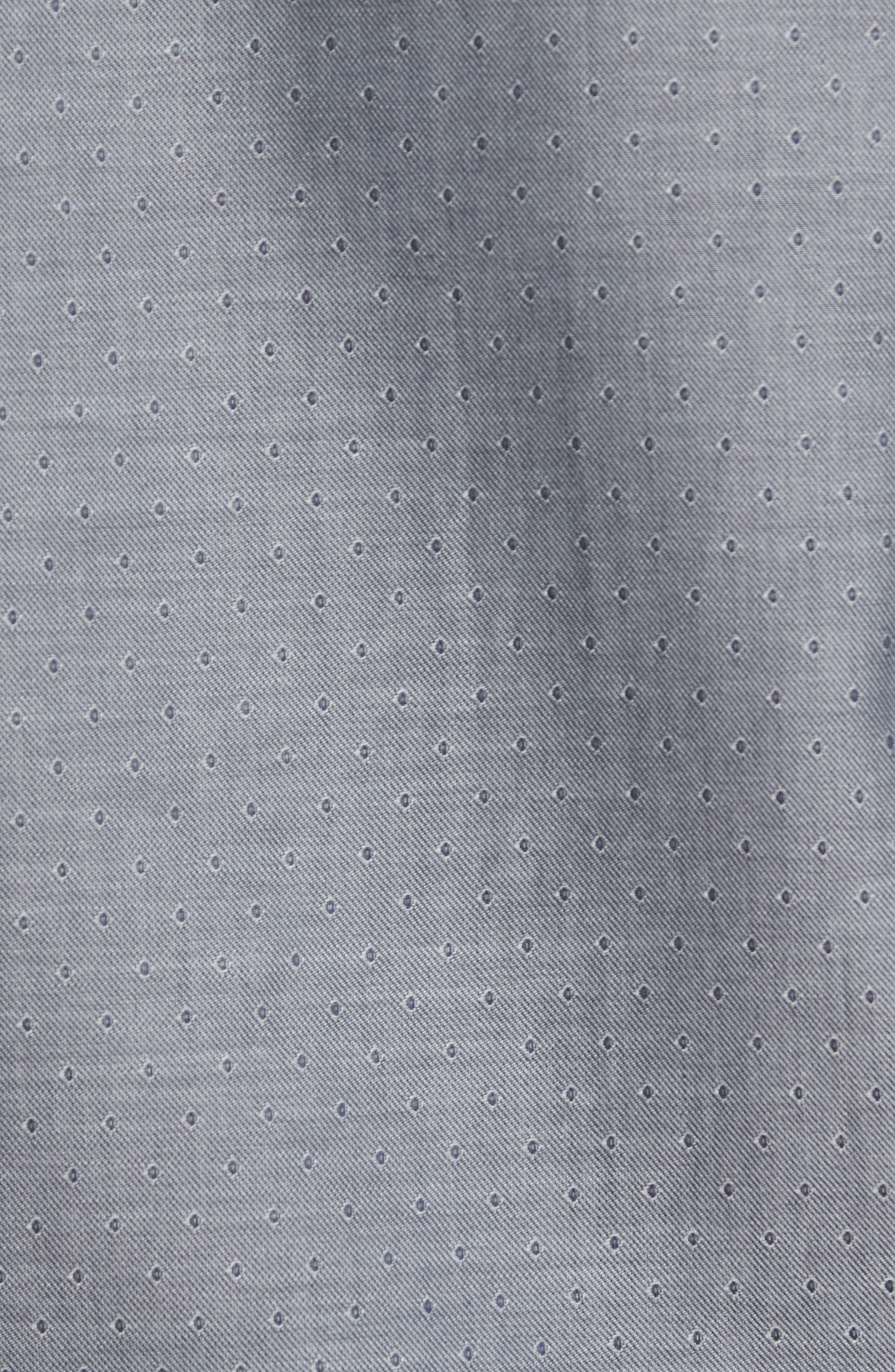 Slim Fit Diamond Twill Sport Shirt,                             Alternate thumbnail 5, color,                             020
