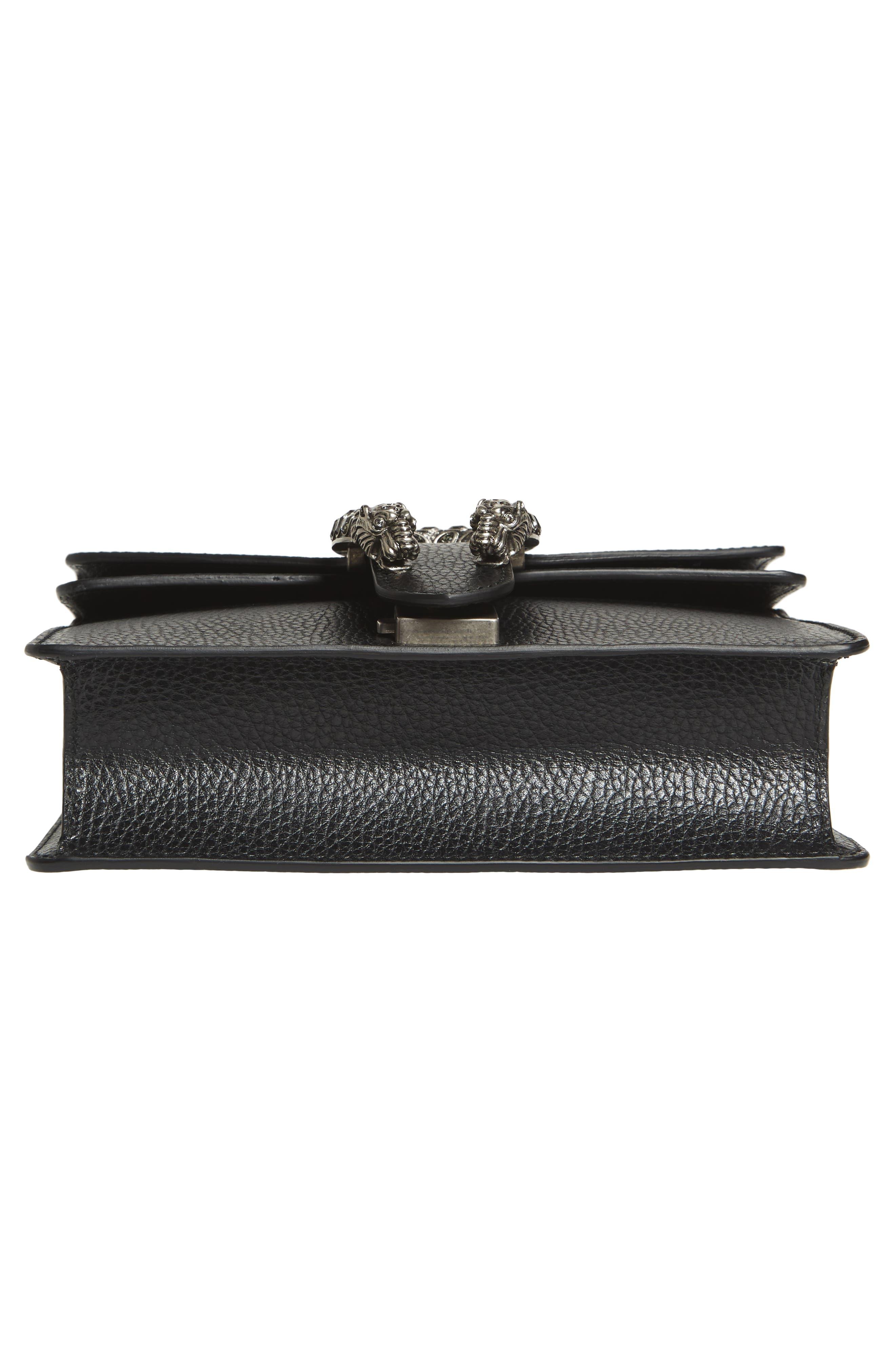 Mini Dionysus Leather Shoulder Bag,                             Alternate thumbnail 6, color,                             NERO/ BLACK DIAMOND