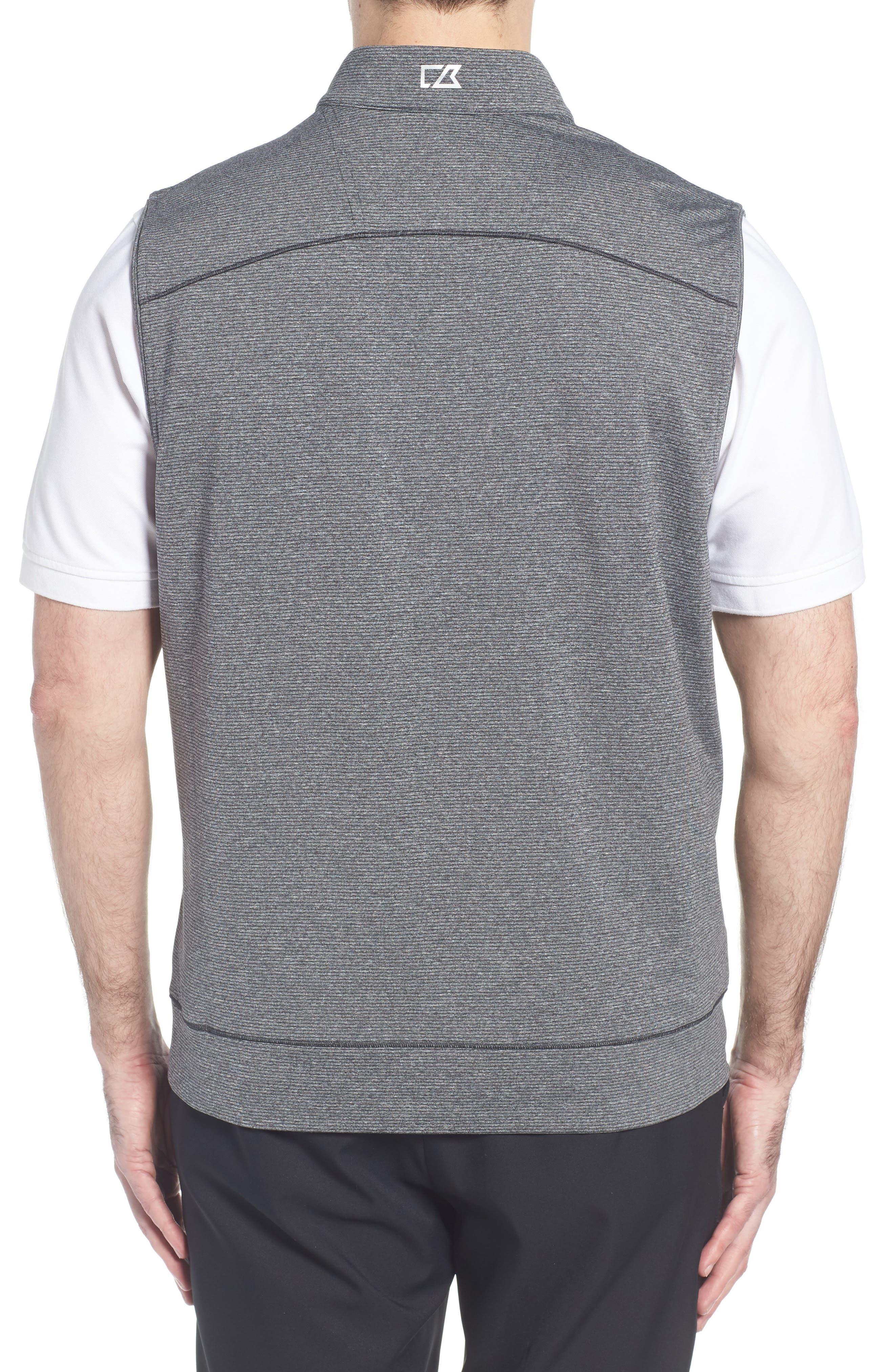 Shoreline Quarter Zip Vest,                             Alternate thumbnail 2, color,                             CHARCOAL HEATHER
