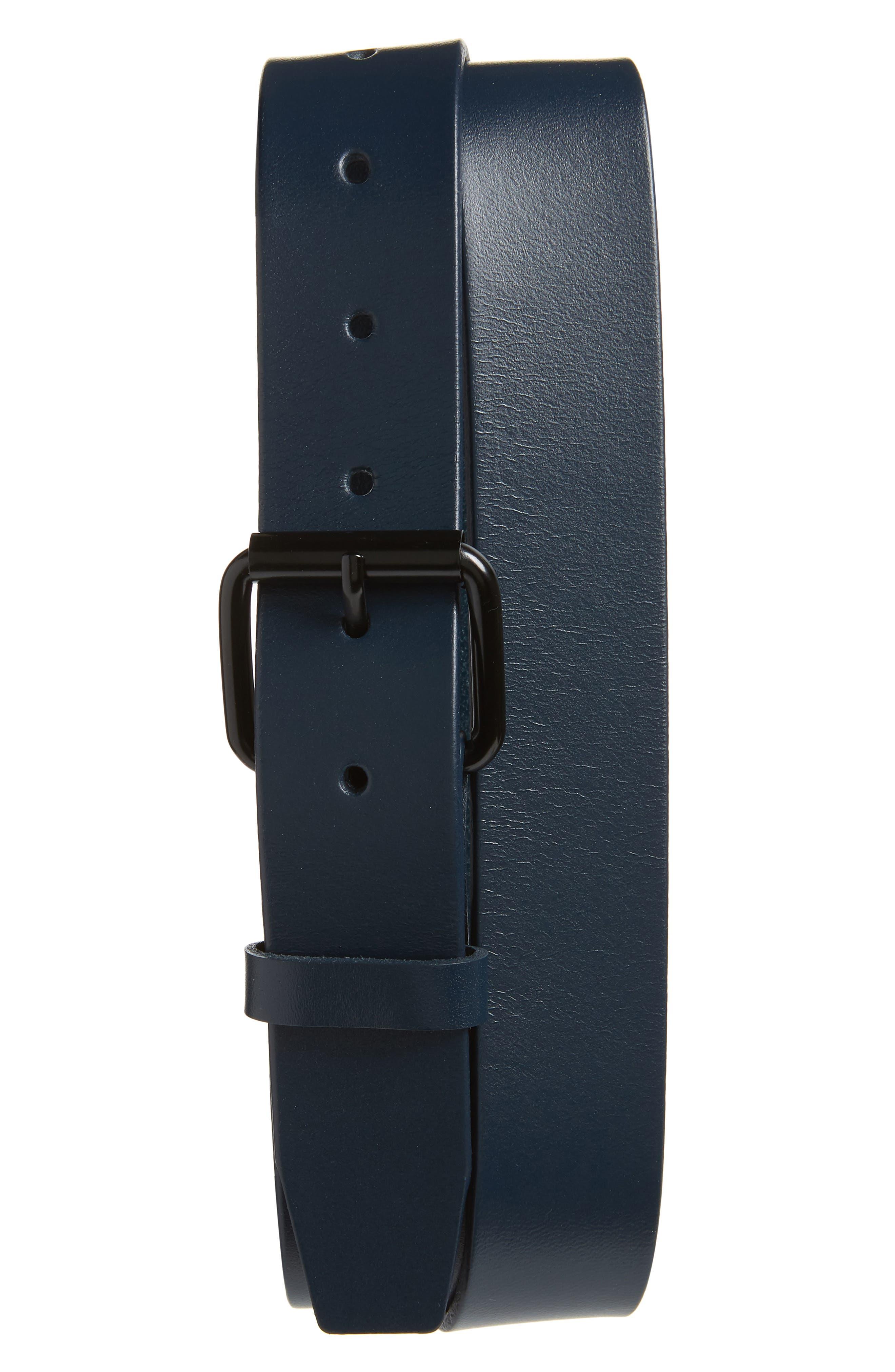 Saturdays Nyc Rockaway Leather Belt, Size One Size - Indigo Dye