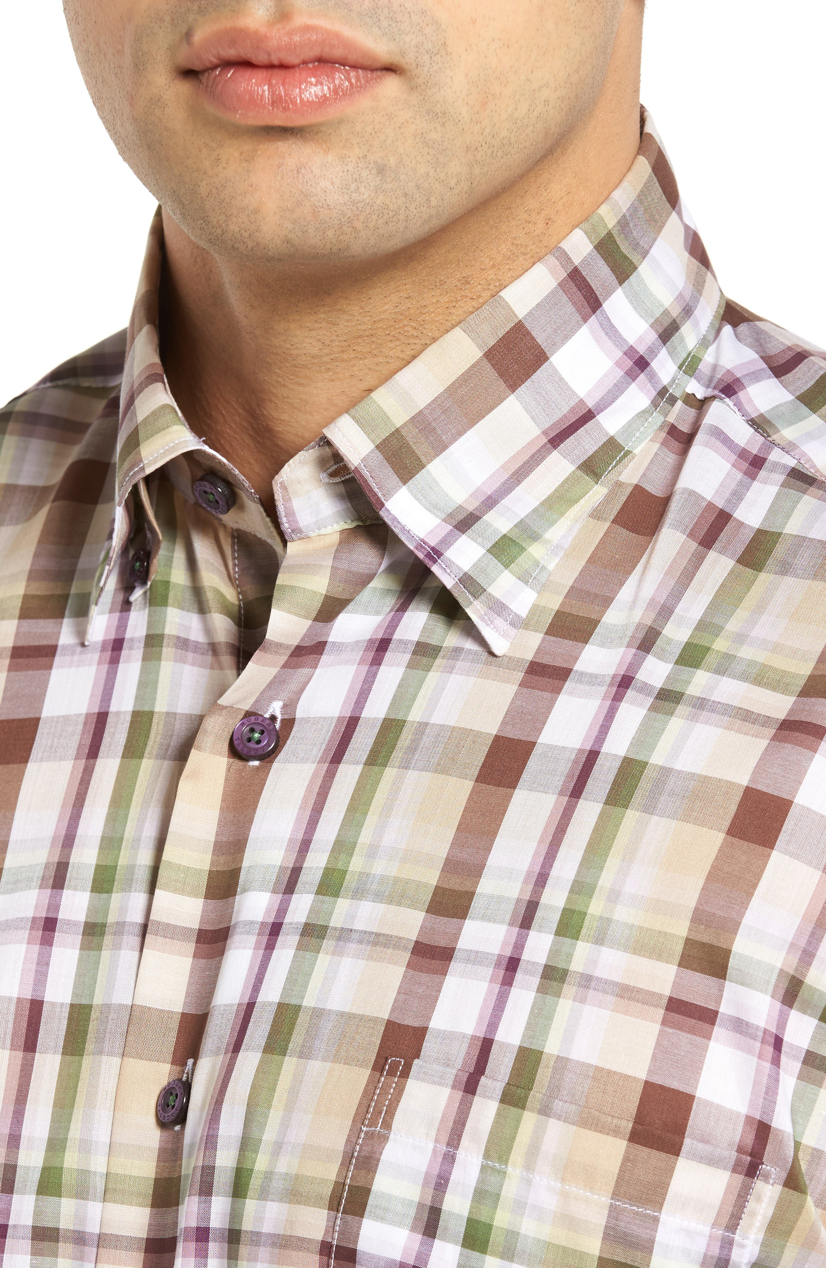Anderson Classic Fit Sport Shirt,                             Alternate thumbnail 4, color,                             200