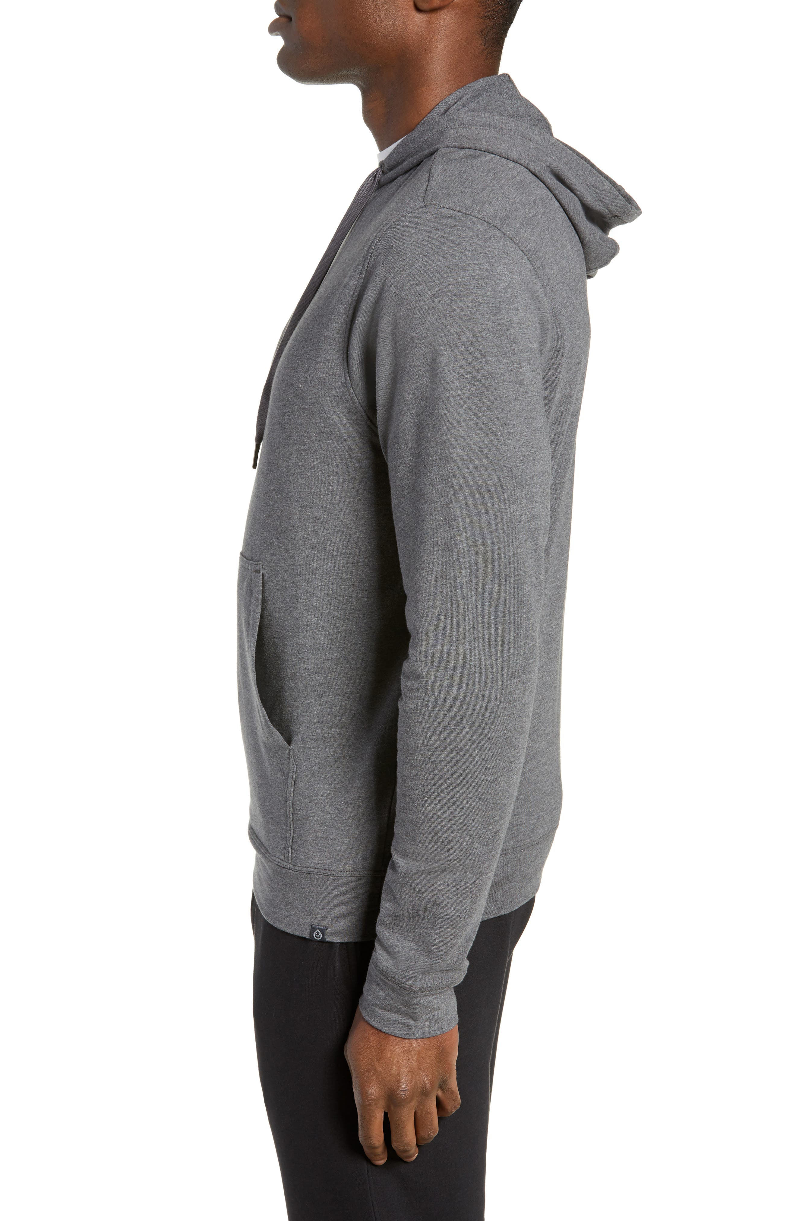 Legacy Hooded Pullover,                             Alternate thumbnail 3, color,                             BLACK