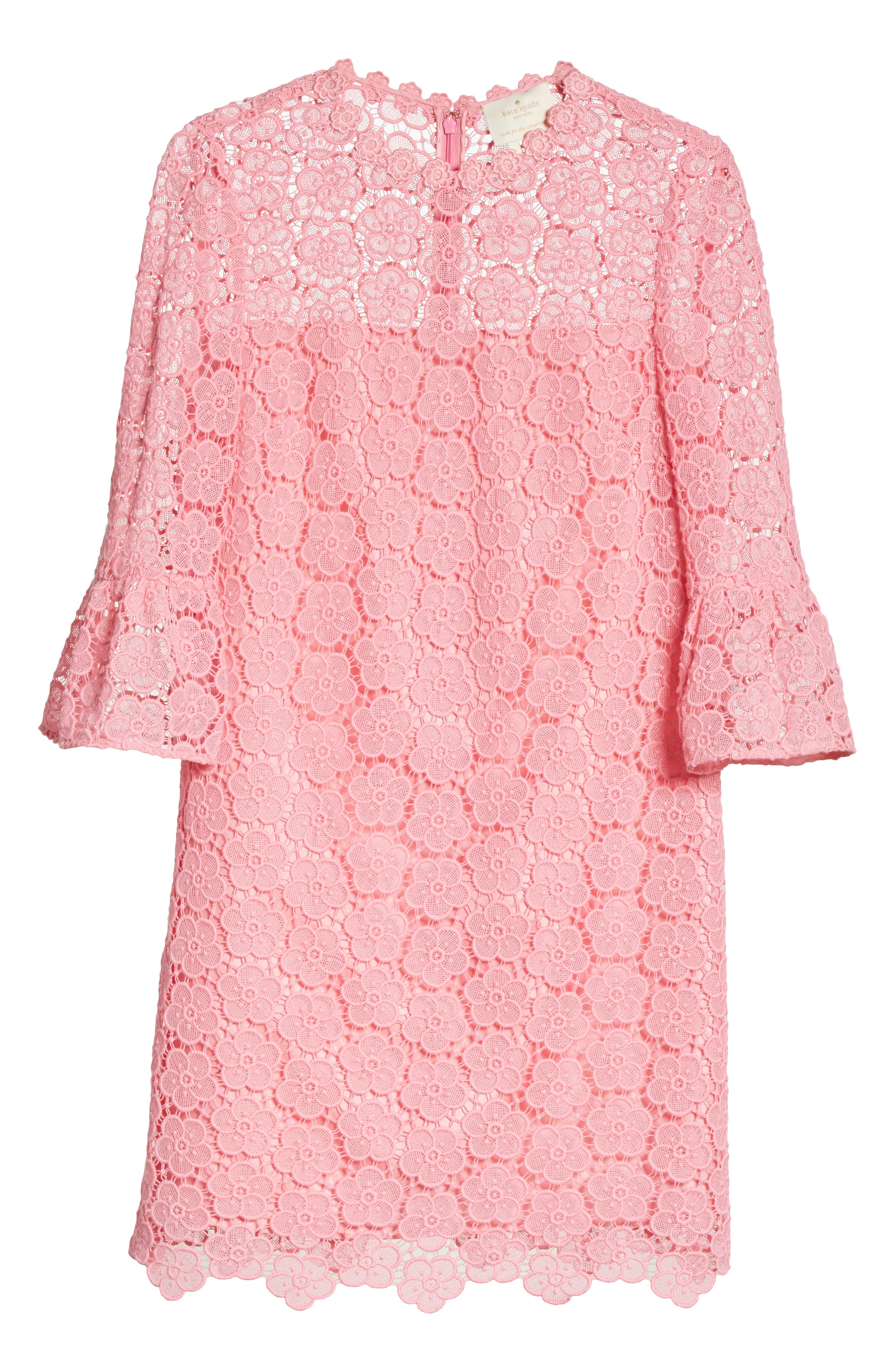 bloom flower lace shift dress,                             Alternate thumbnail 6, color,                             698