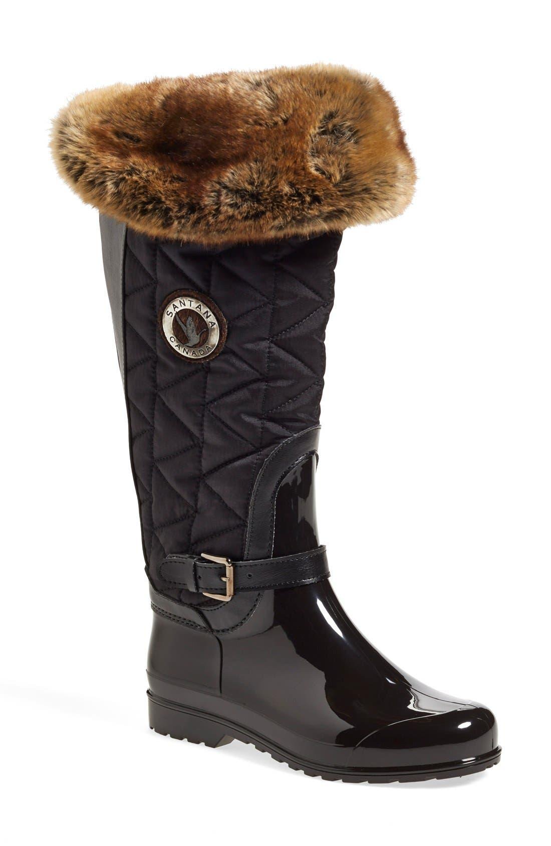 'Clarissa' Waterproof Rain Boot,                         Main,                         color, 001