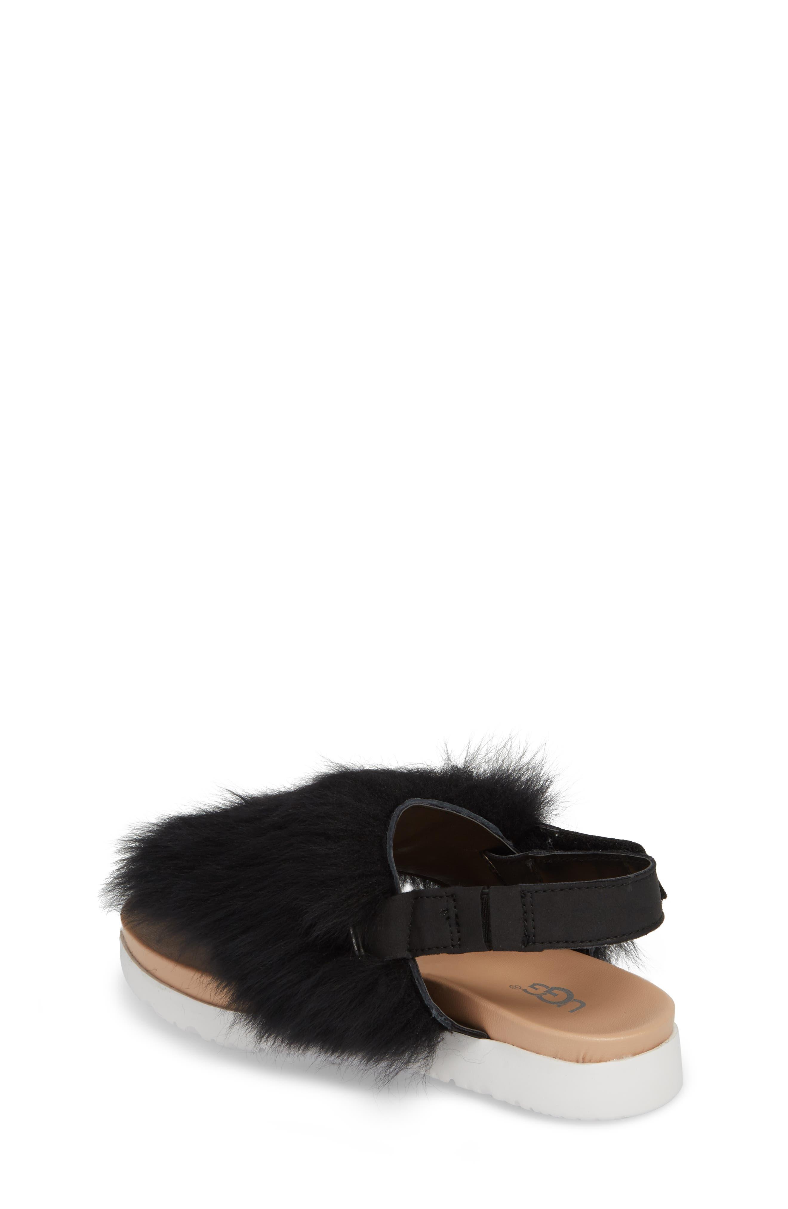 Holly Genuine Shearling Sandal,                             Alternate thumbnail 2, color,                             001